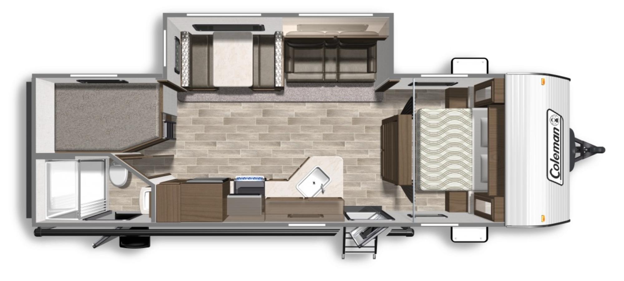 View Floor Plan for 2020 COLEMAN COLEMAN LANTERN 263BHWE