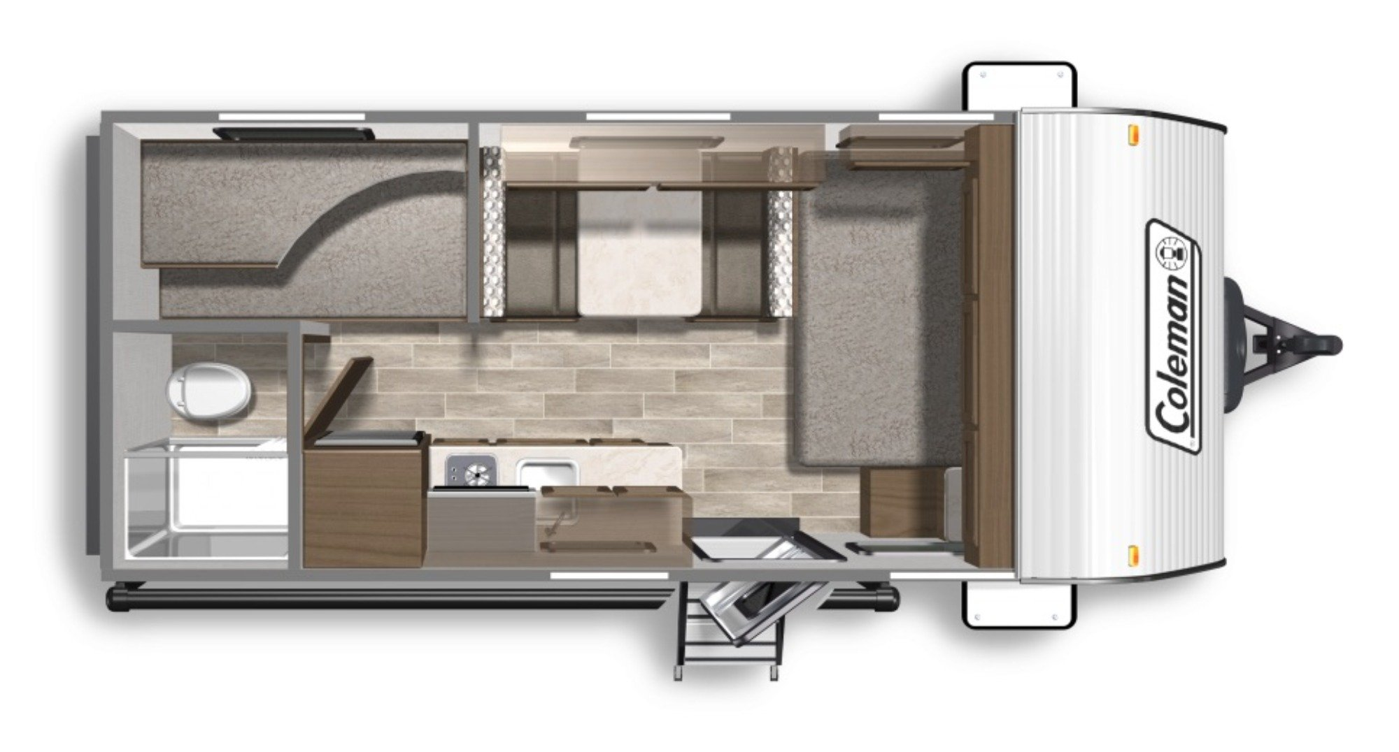 View Floor Plan for 2020 COLEMAN COLEMAN LANTERN LT 17FQ