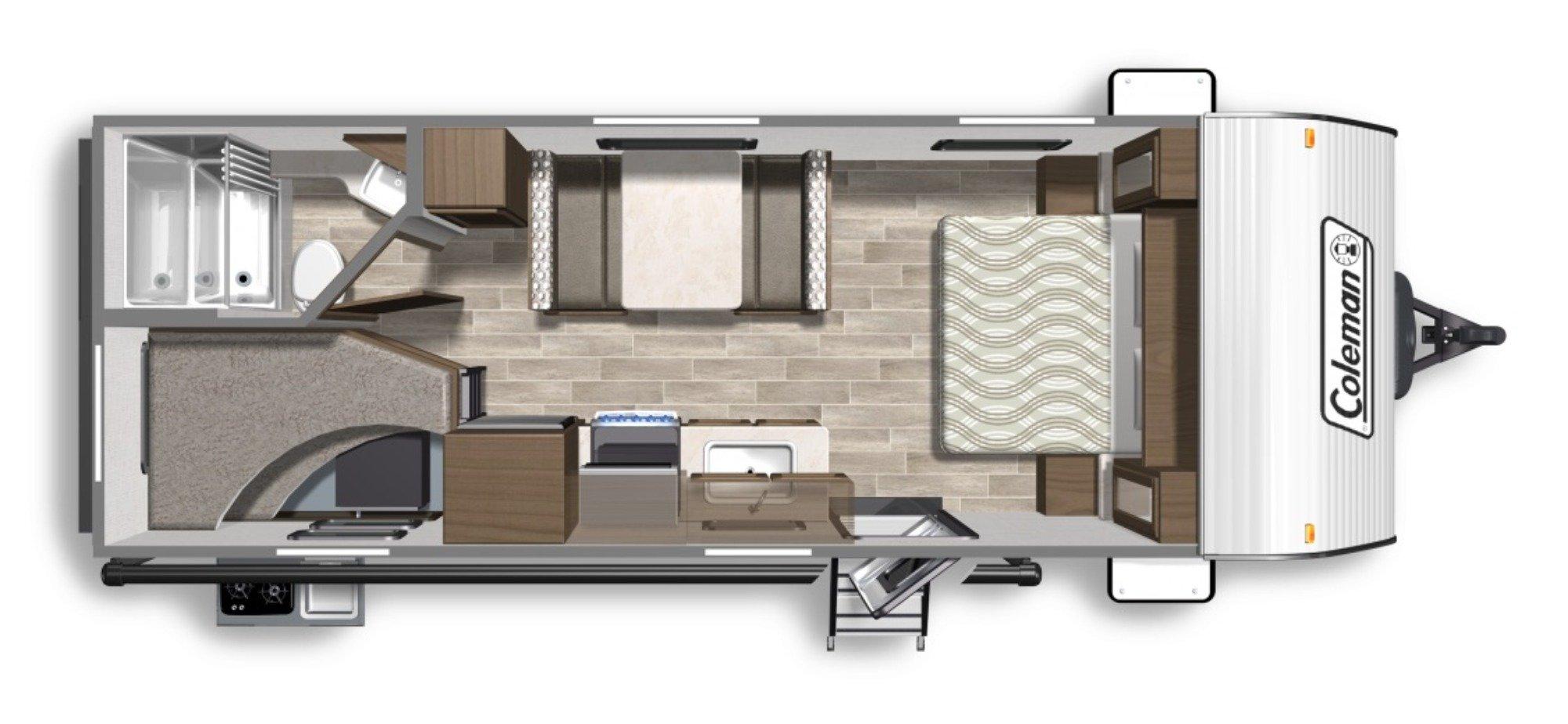 View Floor Plan for 2020 COLEMAN COLEMAN LANTERN LT 215BH