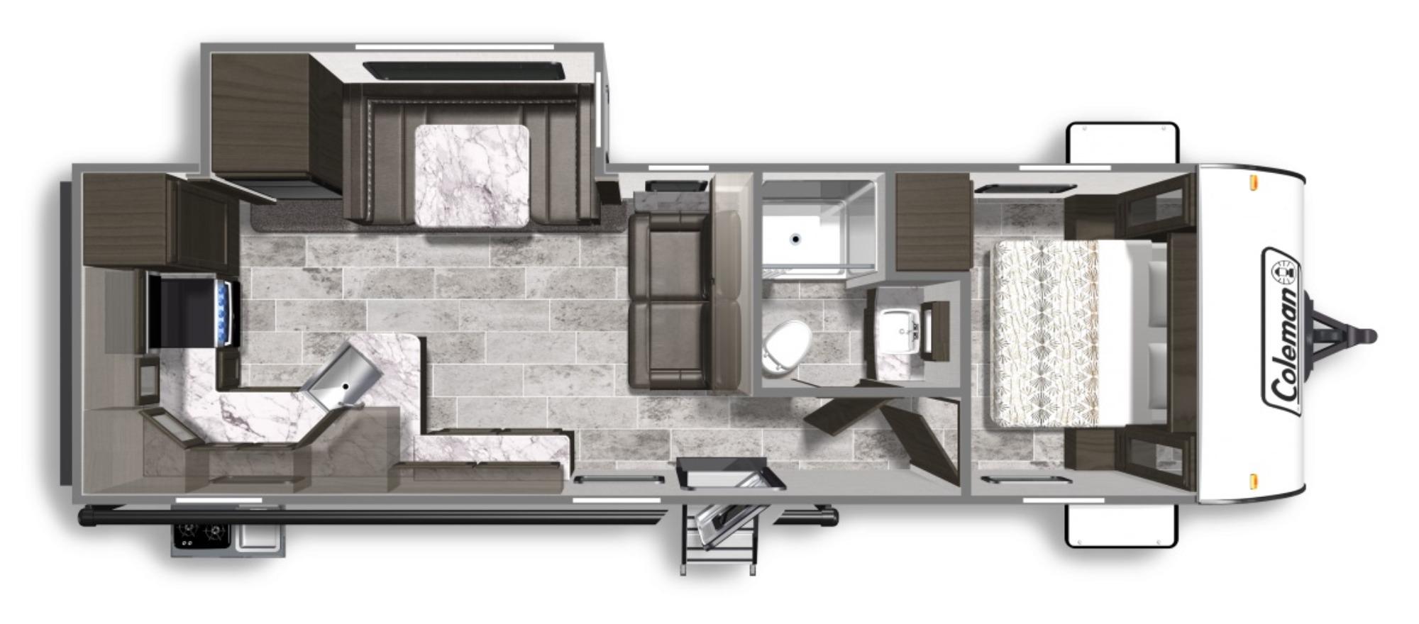View Floor Plan for 2020 COLEMAN COLEMAN LIGHT 2825RK