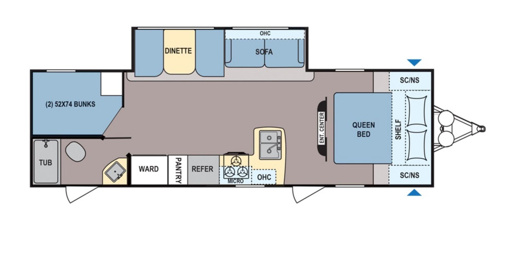 View Floor Plan for 2020 COLEMAN COLEMAN LIGHT LX 2855BH