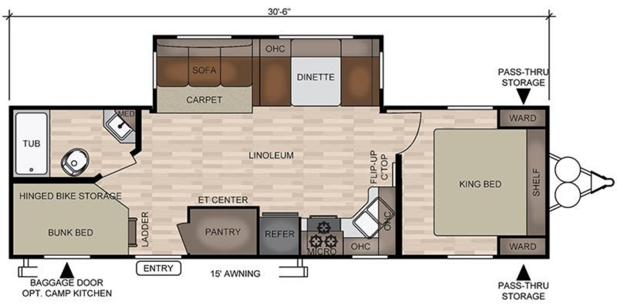 View Floor Plan for 2020 EAST TO WEST SILVER LAKE 28KRD