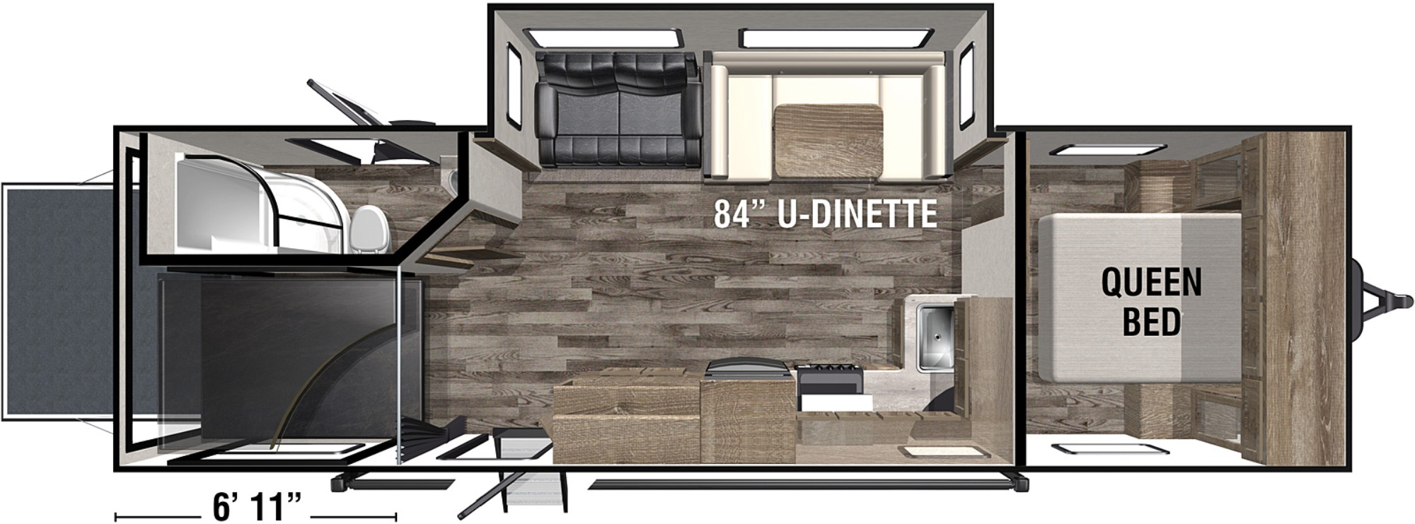 View Floor Plan for 2020 FOREST RIVER XLR BOOST 27QBX