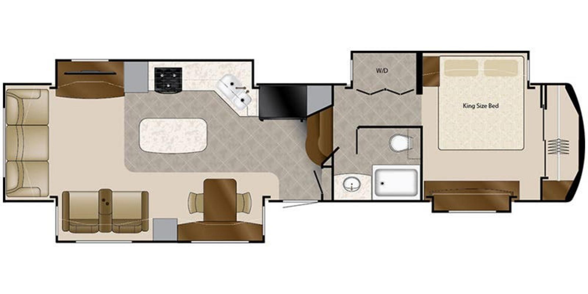 View Floor Plan for 2020 DRV LUXURY SUITES MOBILE SUITES 40KSSB4
