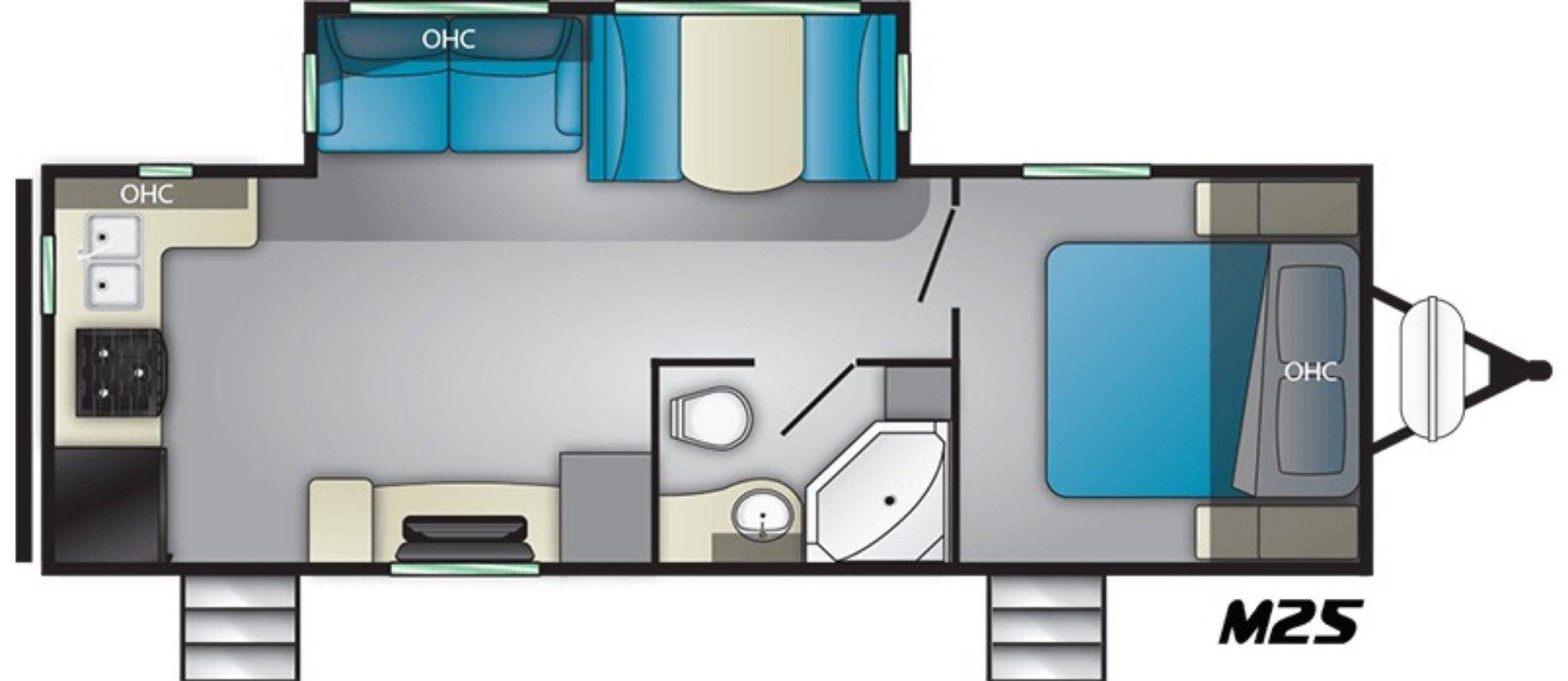 View Floor Plan for 2020 HEARTLAND MALLARD M25