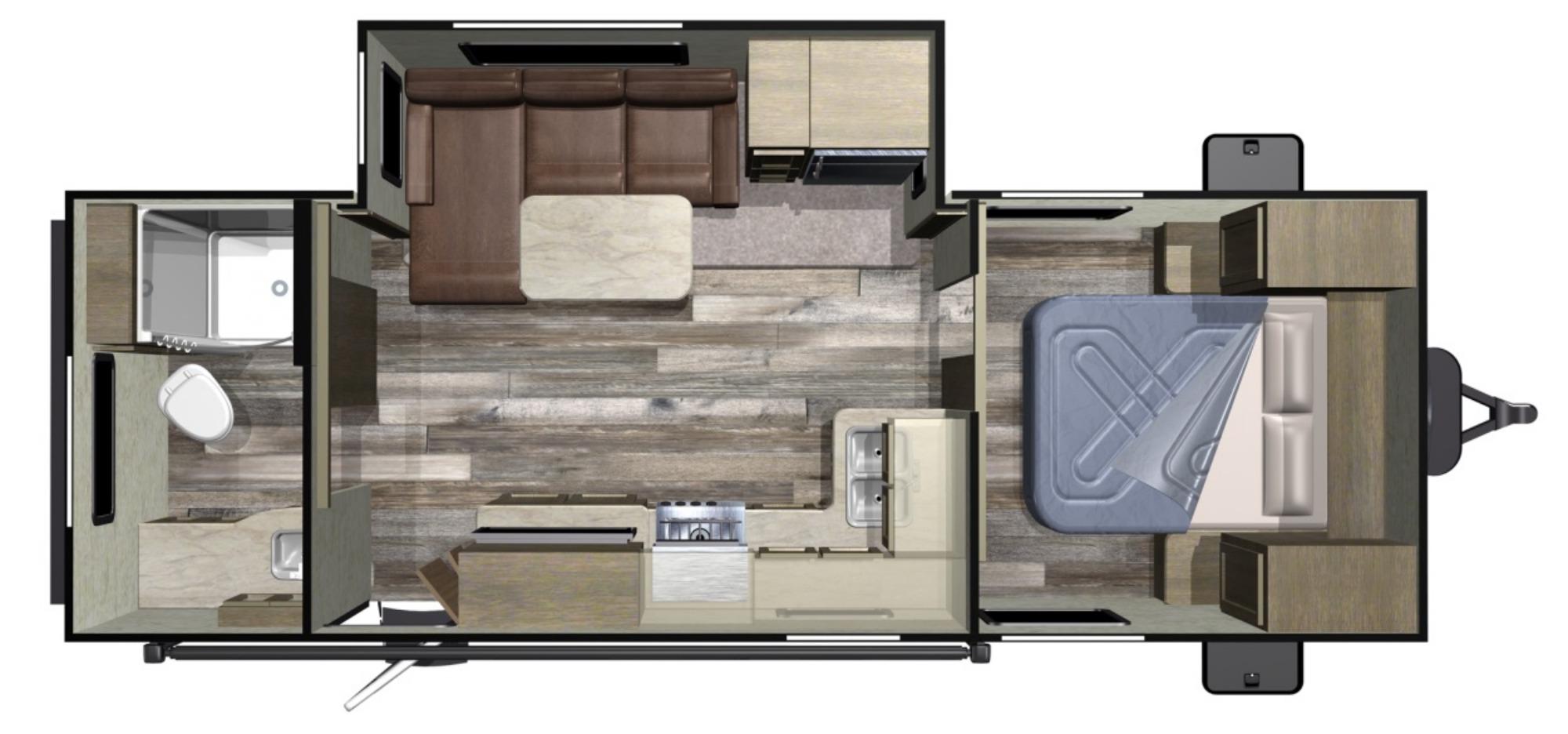 View Floor Plan for 2020 STARCRAFT AUTUMN RIDGE OUTFITTER 21RBS