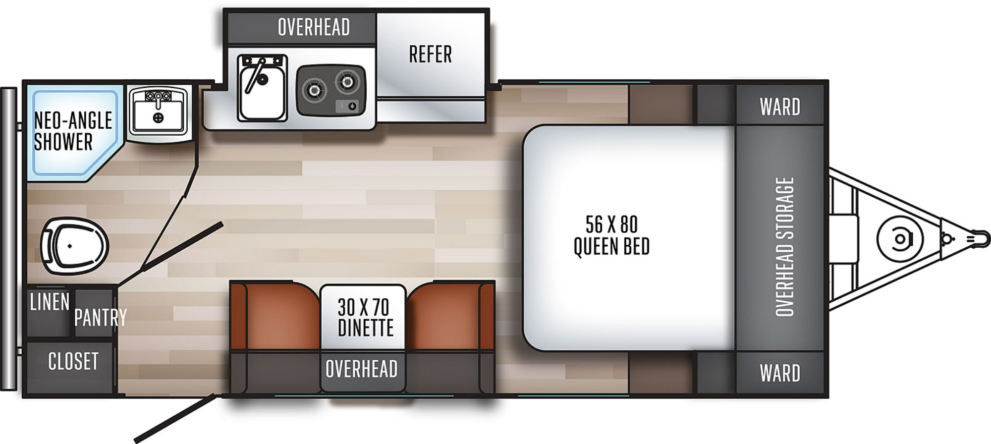View Floor Plan for 2020 FOREST RIVER REAL-LITE 182