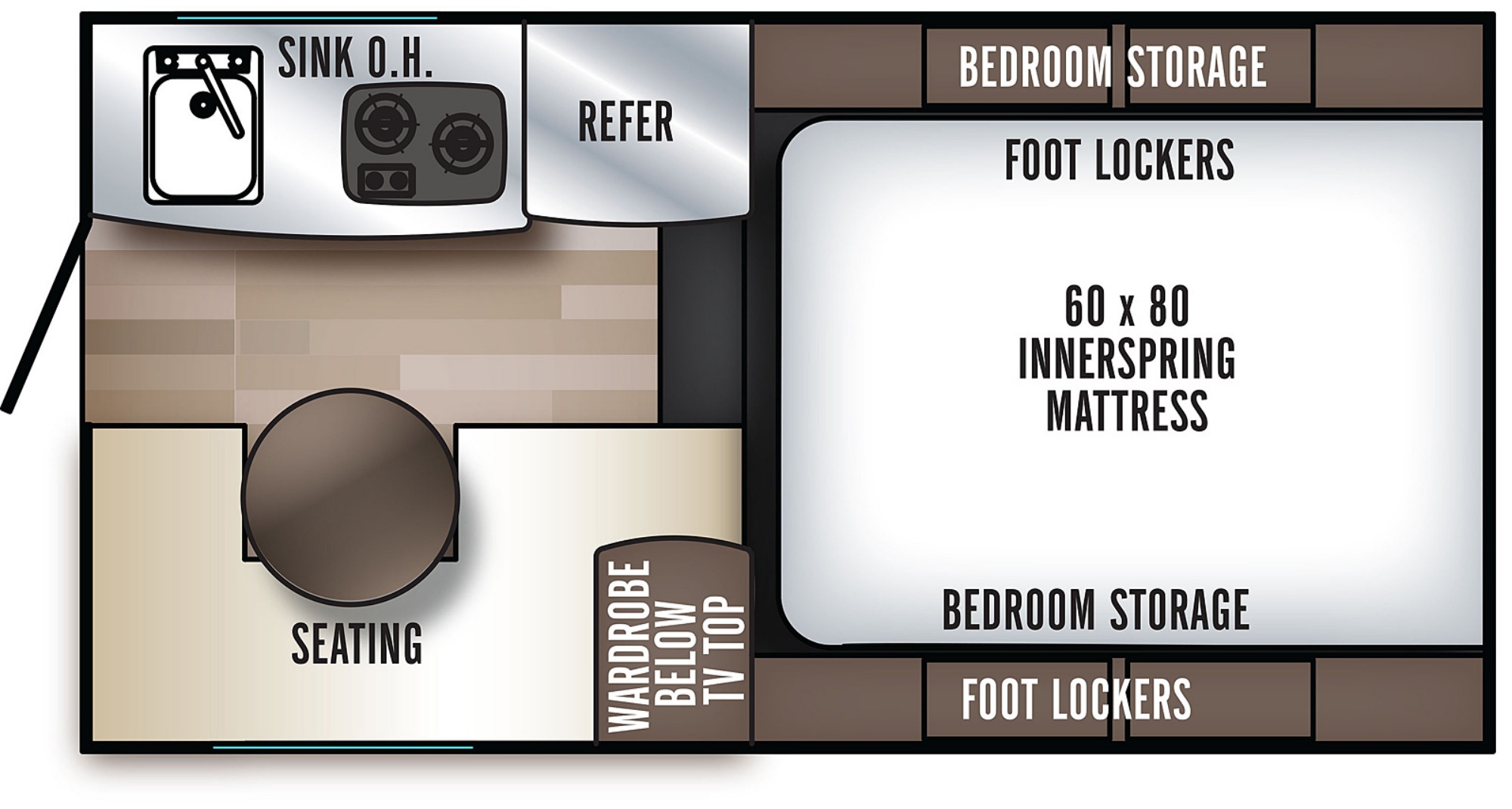 View Floor Plan for 2020 FOREST RIVER BACKPACK EDITION SS-550