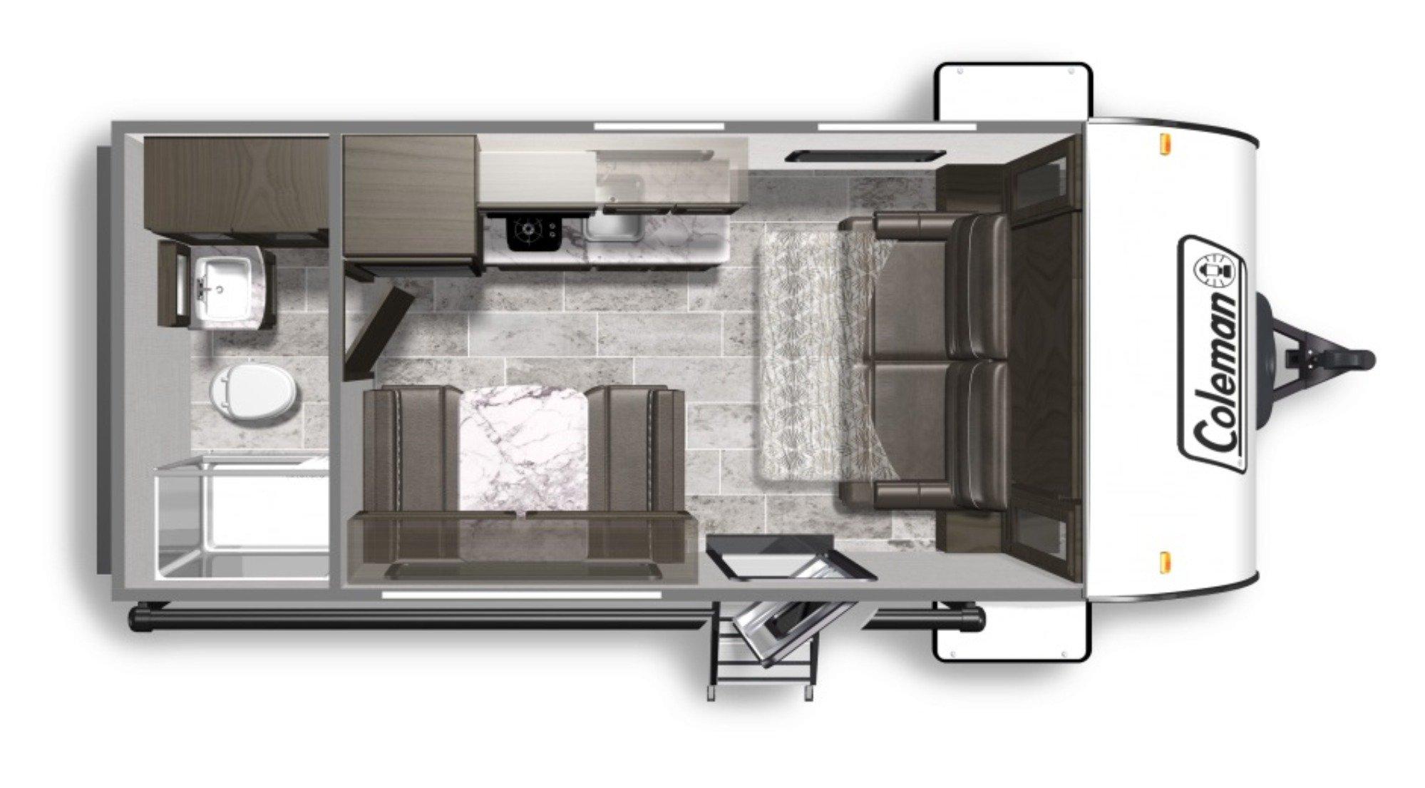 View Floor Plan for 2020 COLEMAN COLEMAN LIGHT LX 1705RB