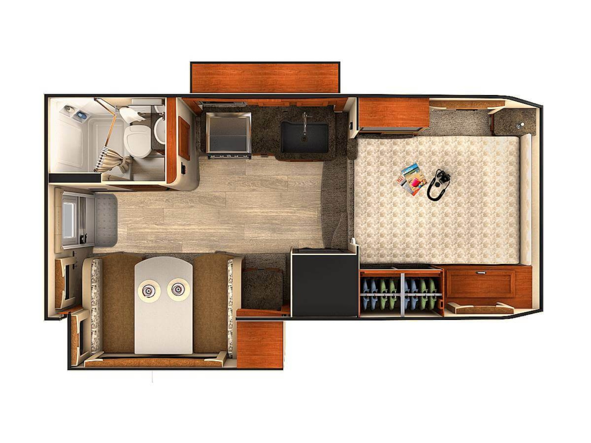 View Floor Plan for 2020 LANCE LANCE 1062