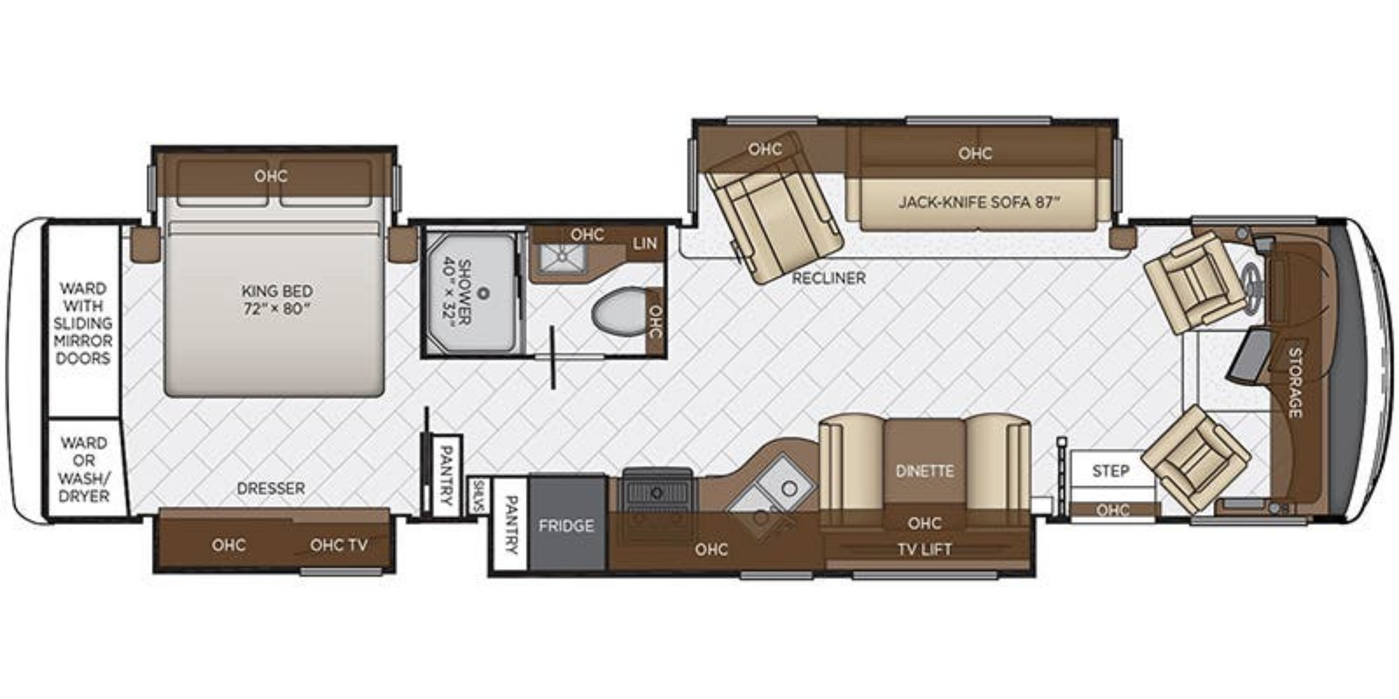 View Floor Plan for 2020 NEWMAR CANYON STAR 3719
