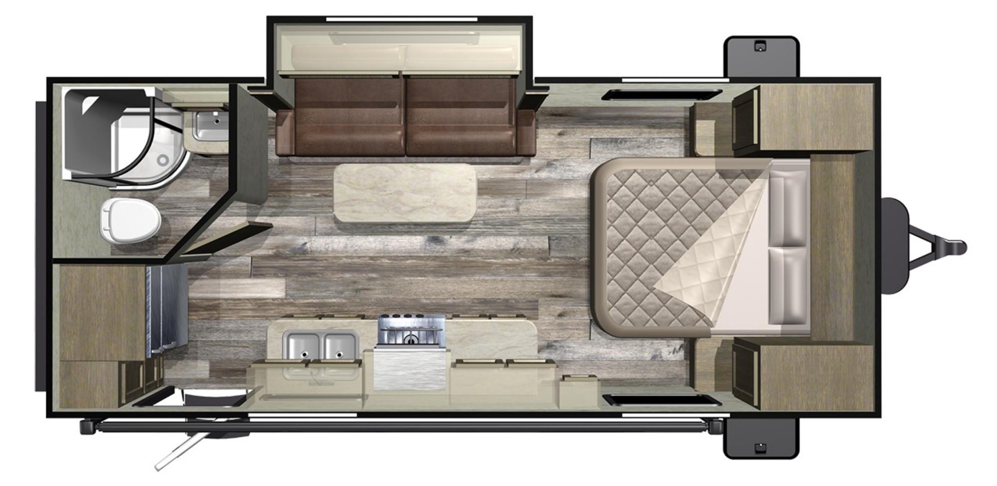 View Floor Plan for 2020 STARCRAFT MOSSY OAK 20FBS