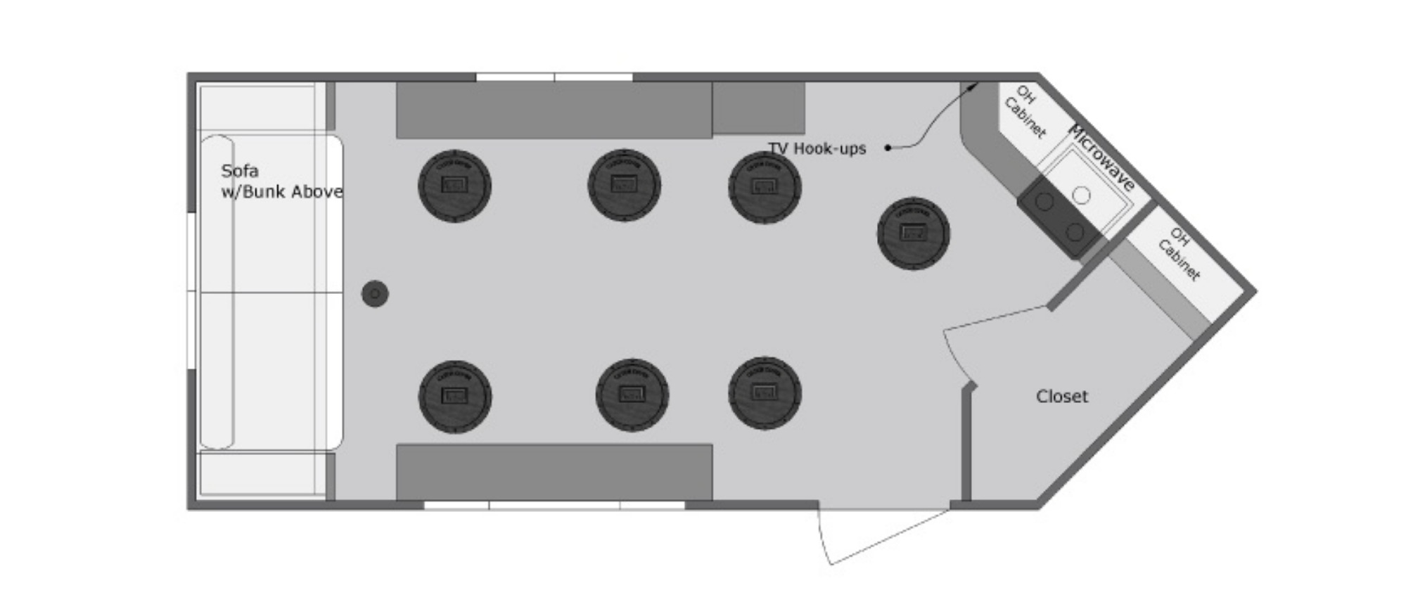 View Floor Plan for 2020 VOYAGER YETTI A816-DK