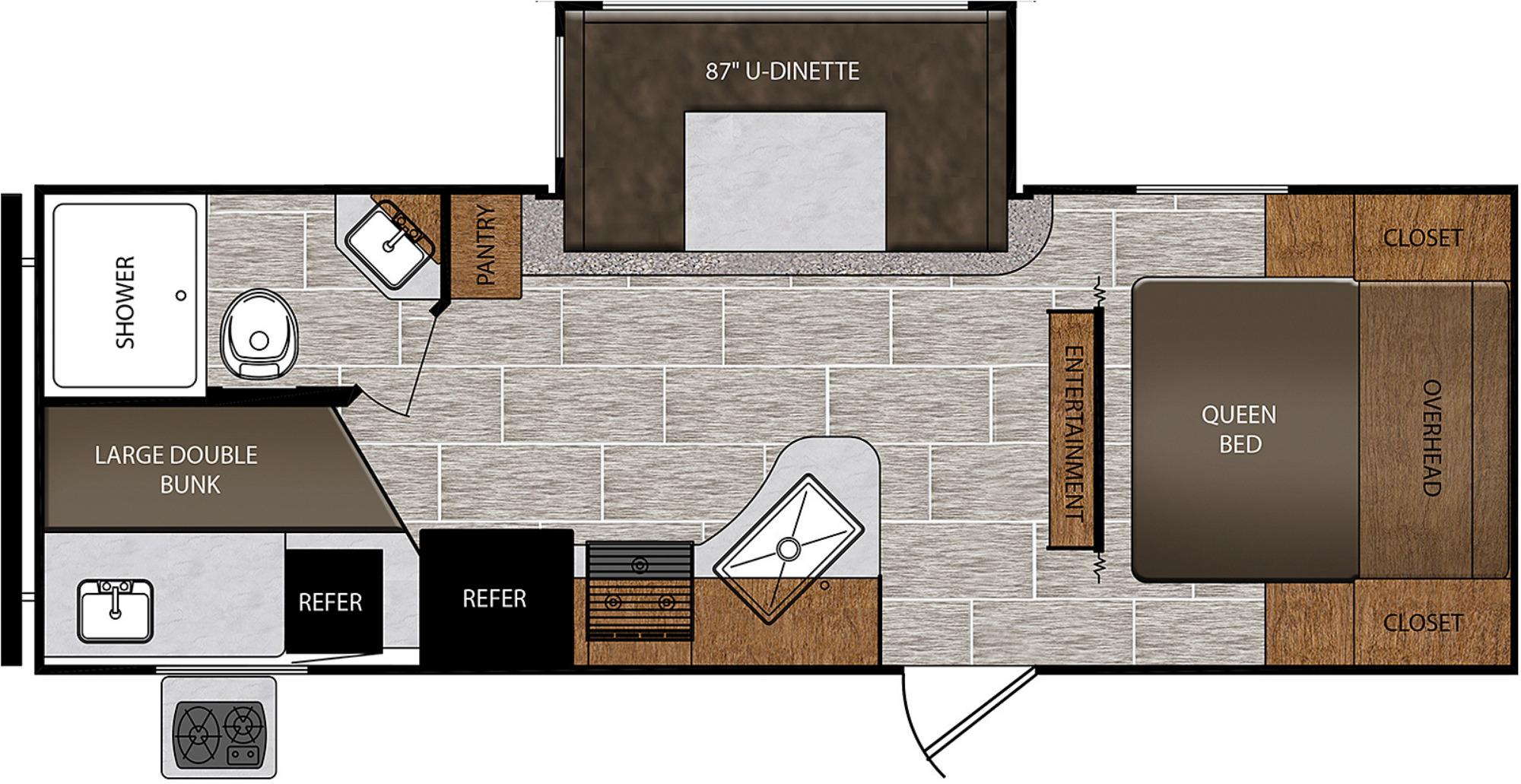 View Floor Plan for 2020 PRIME TIME AVENGER ATI 24BHS