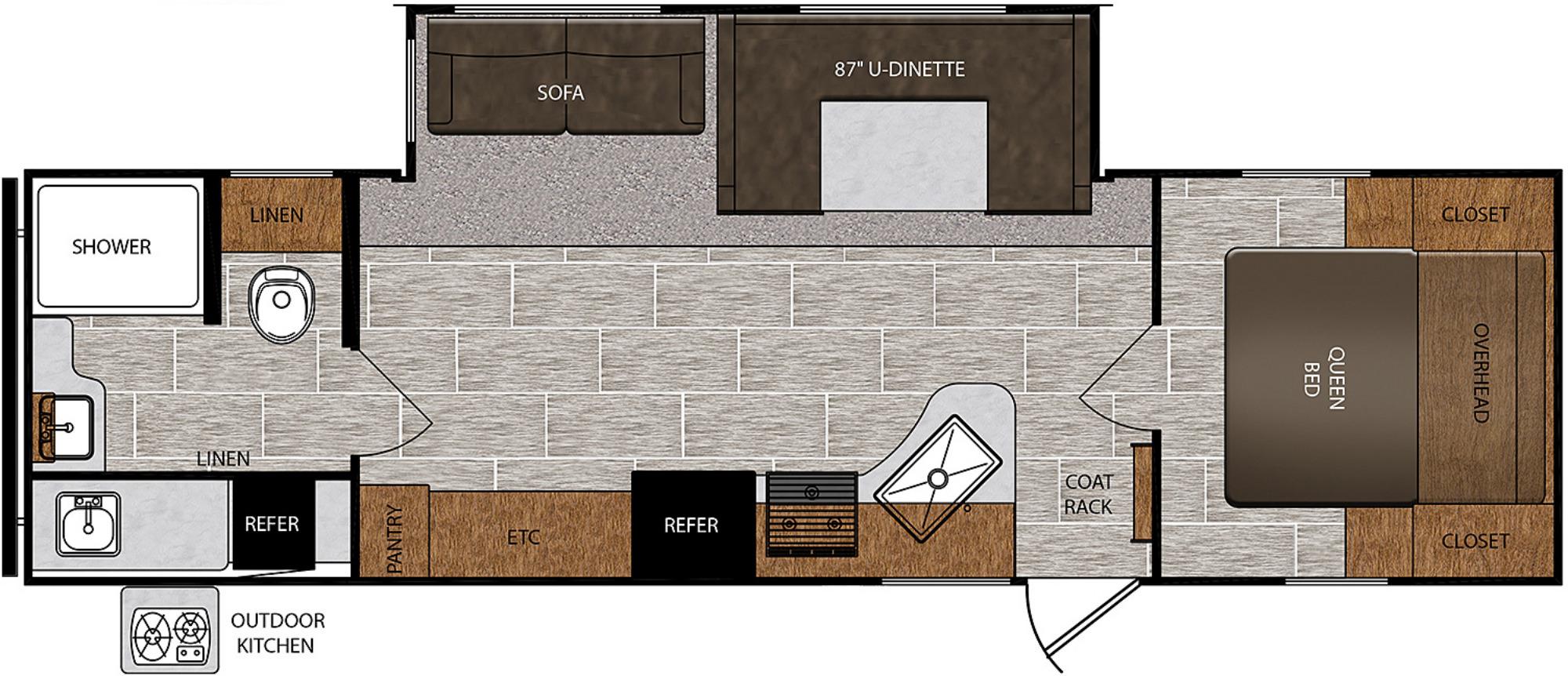View Floor Plan for 2020 PRIME TIME AVENGER ATI 27RBS
