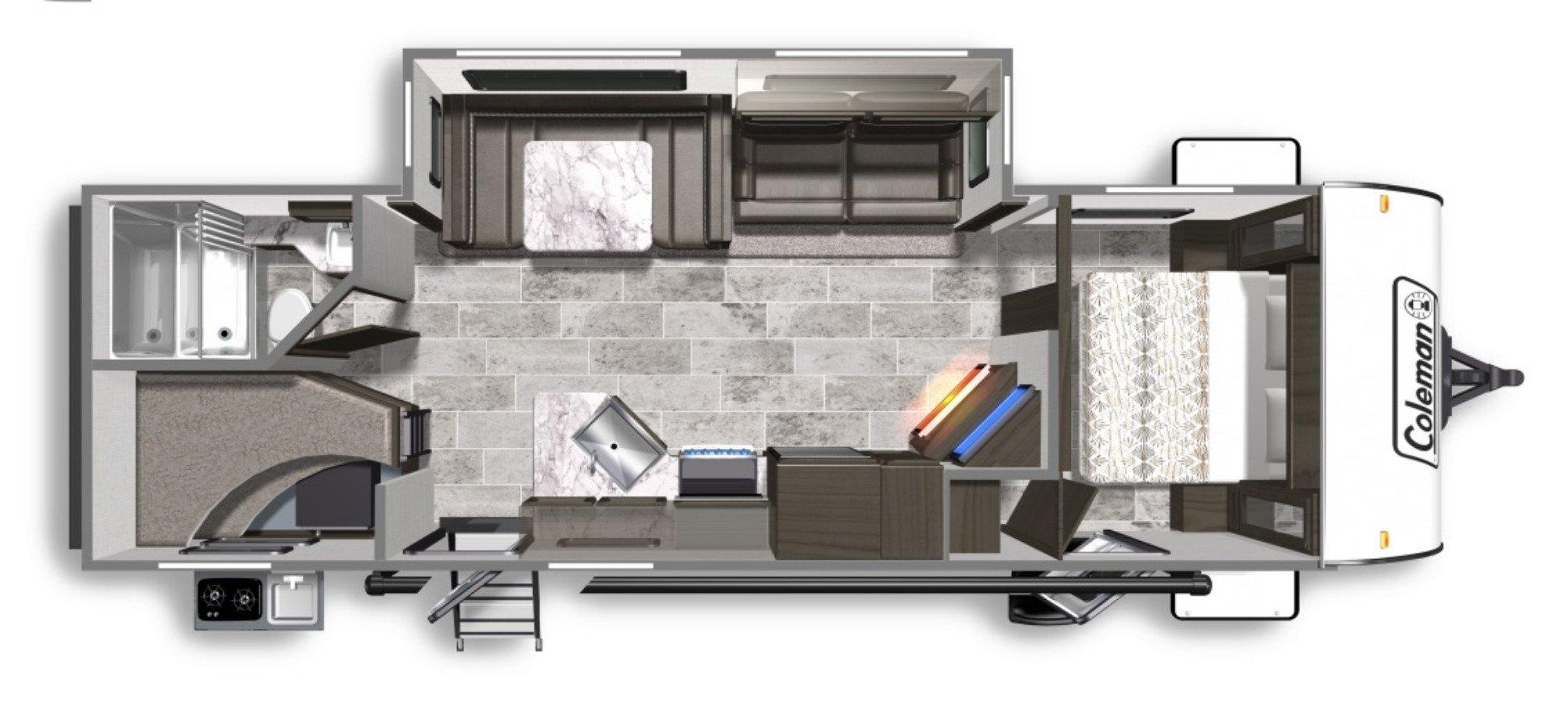 View Floor Plan for 2020 COLEMAN COLEMAN LIGHT 2755BH