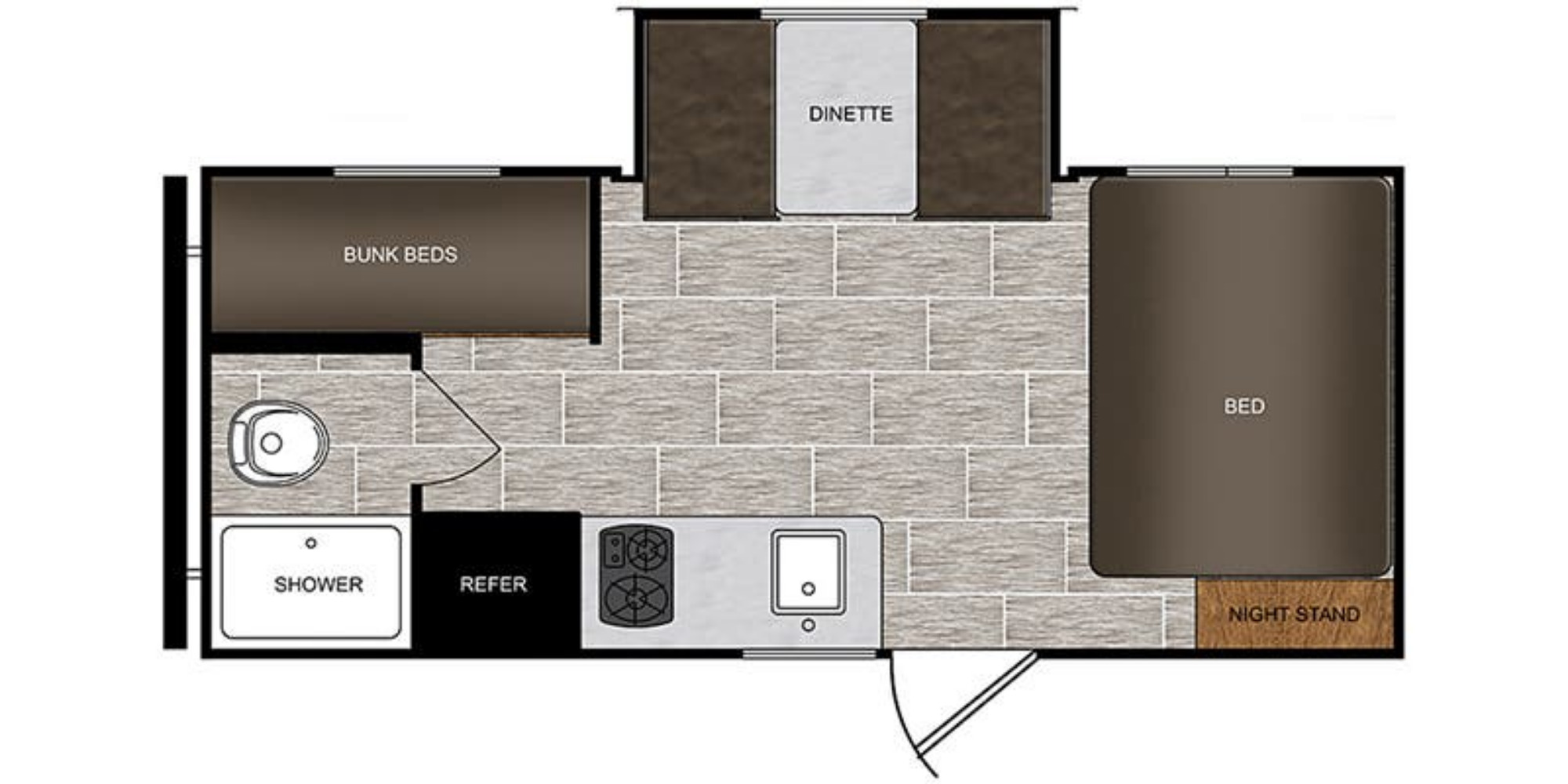 View Floor Plan for 2020 PRIME TIME PTX 170BHS