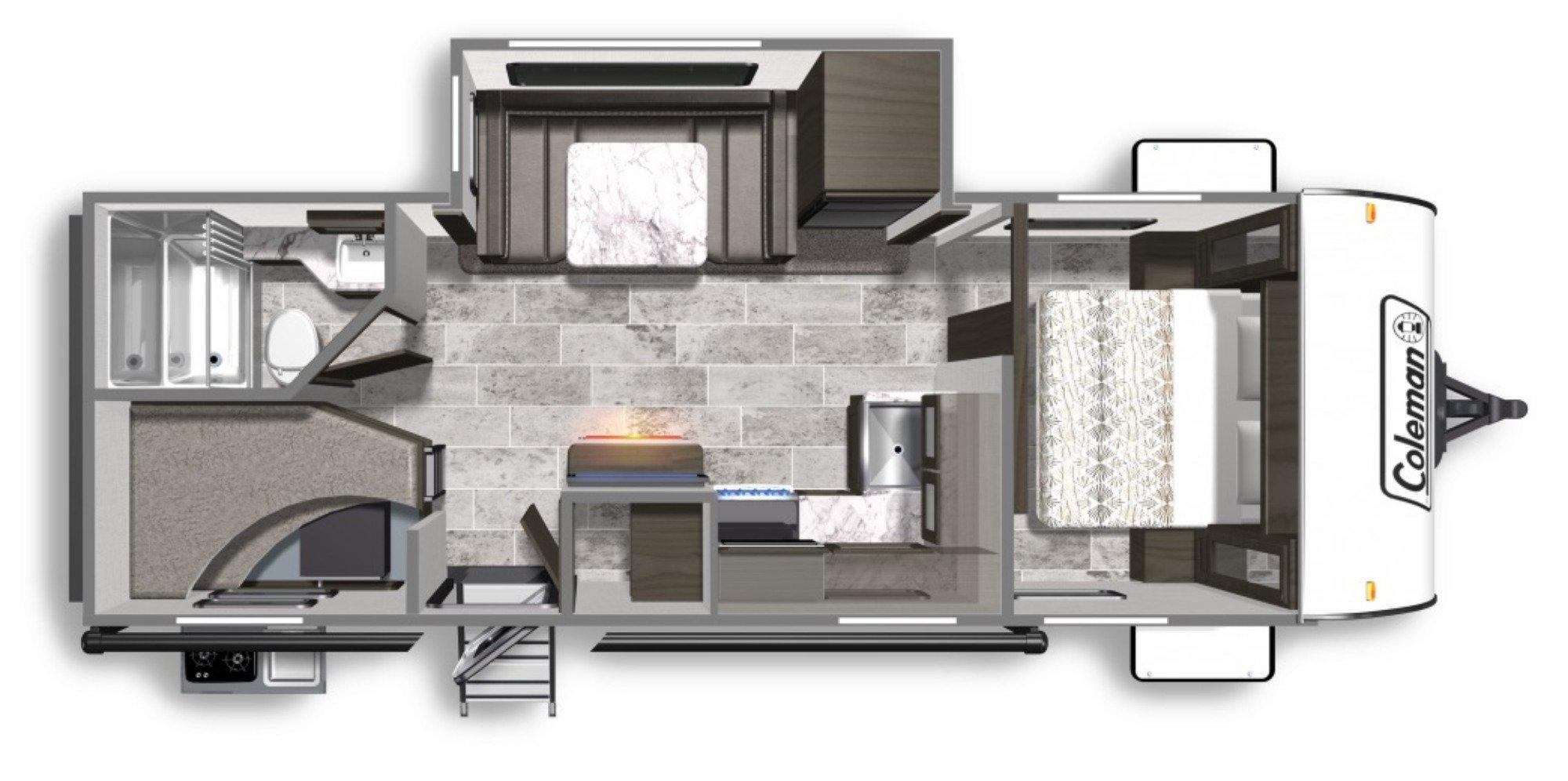 View Floor Plan for 2020 COLEMAN COLEMAN LIGHT 2455BH