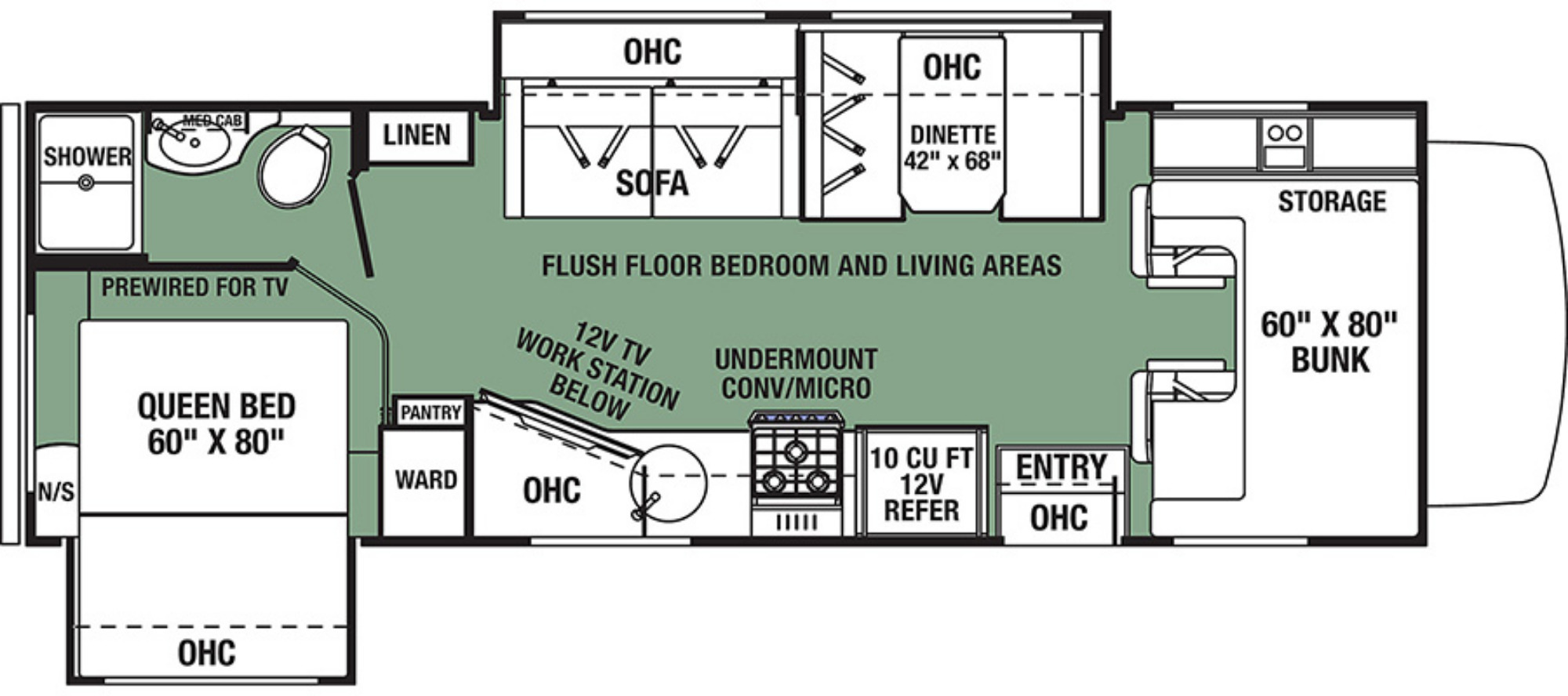View Floor Plan for 2020 FOREST RIVER FORESTER 2551DSF