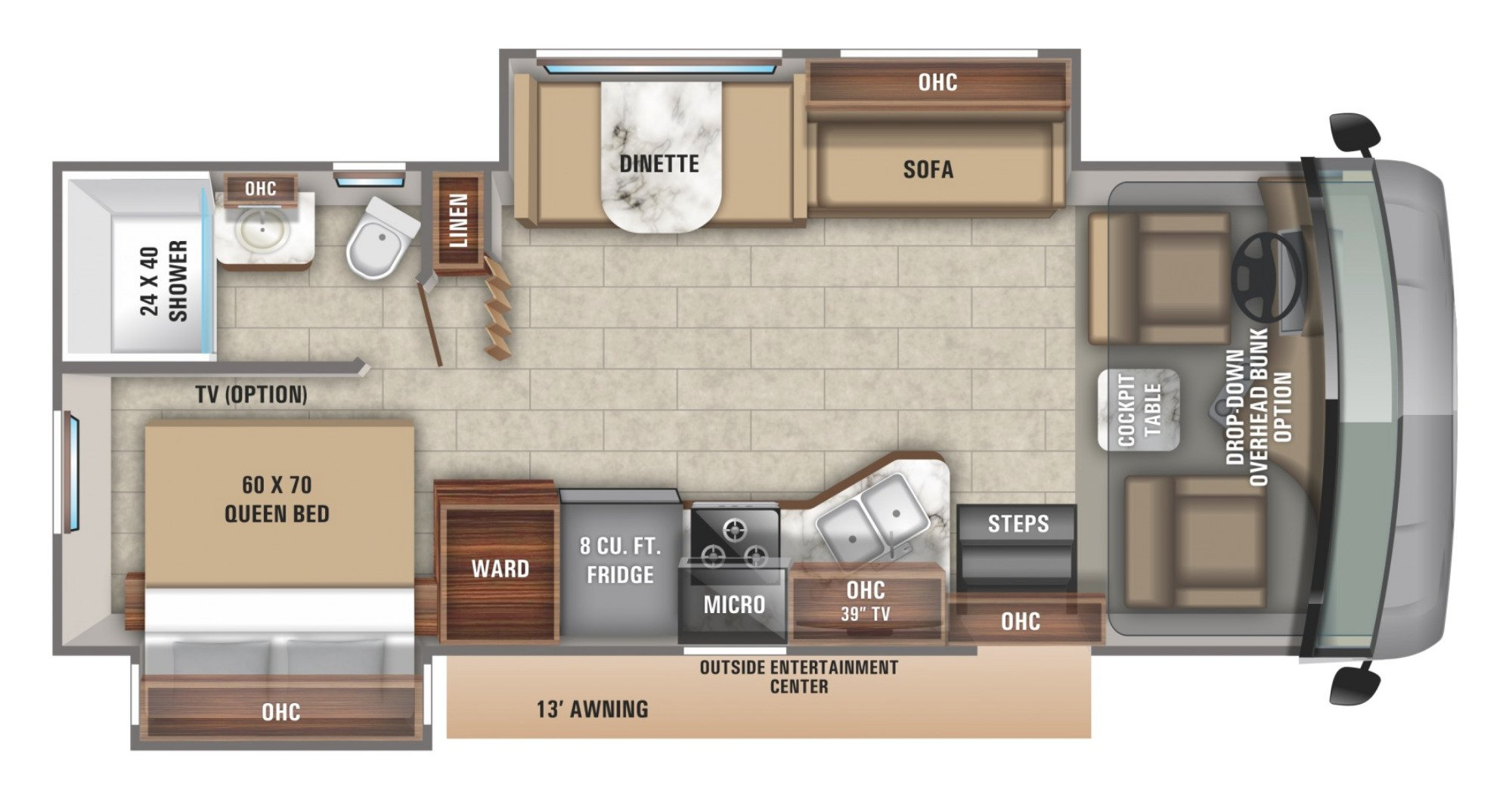 View Floor Plan for 2020 JAYCO ALANTE 26X