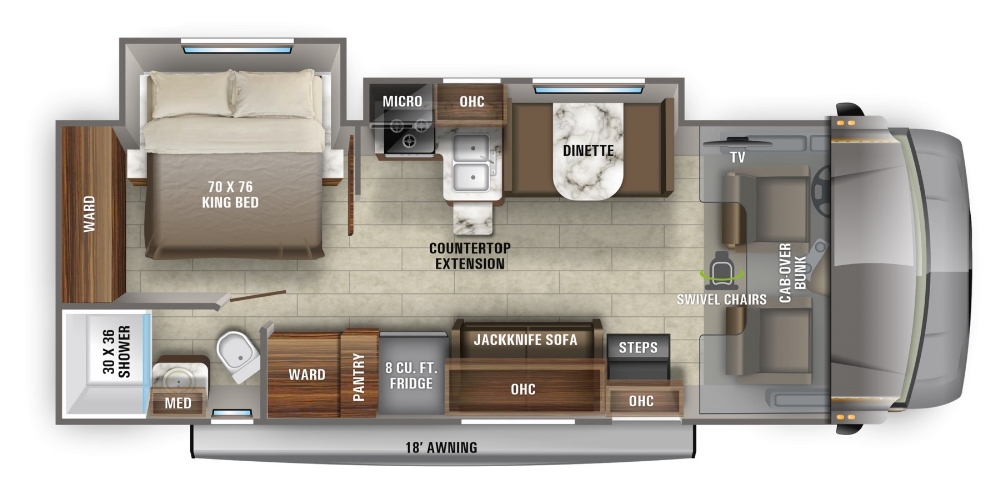 View Floor Plan for 2021 JAYCO GREYHAWK 27U