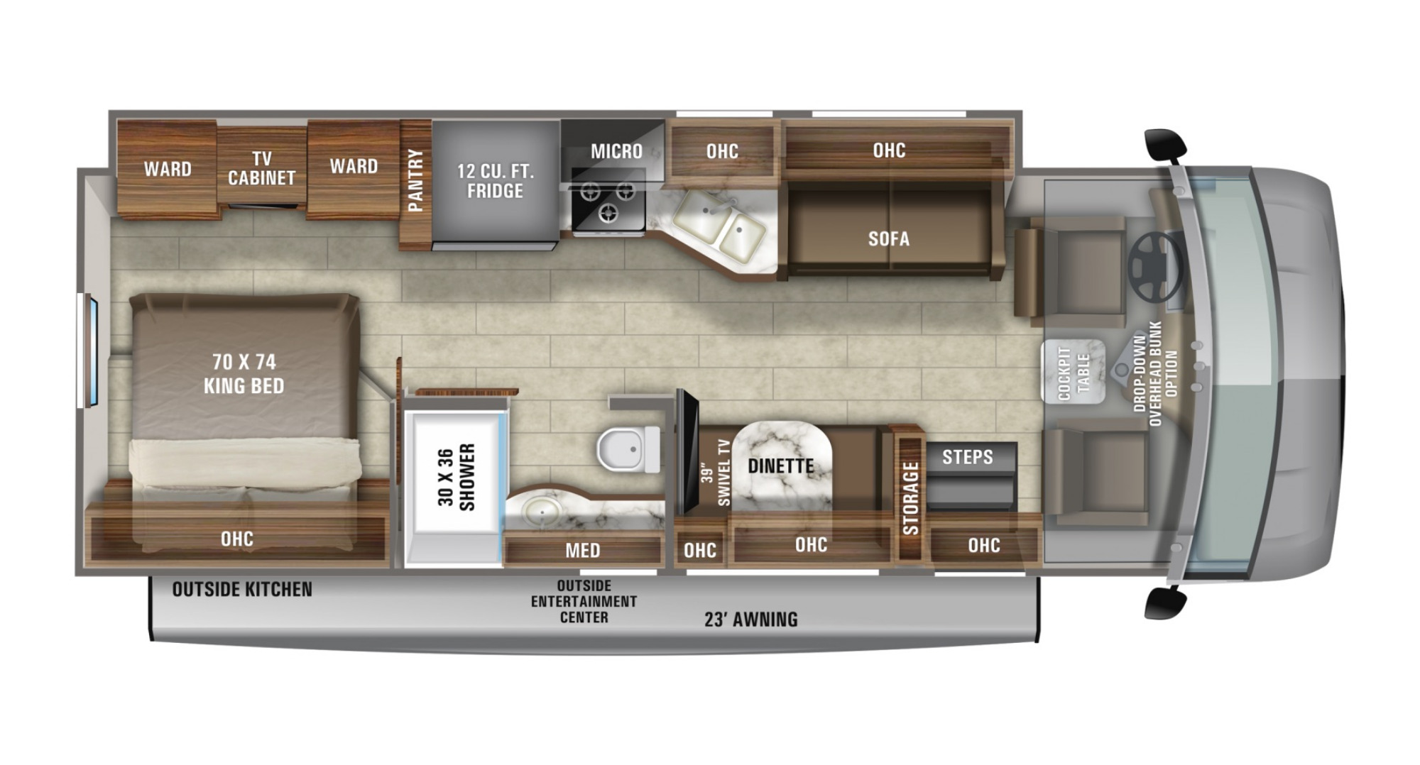 View Floor Plan for 2021 JAYCO PRECEPT 29V