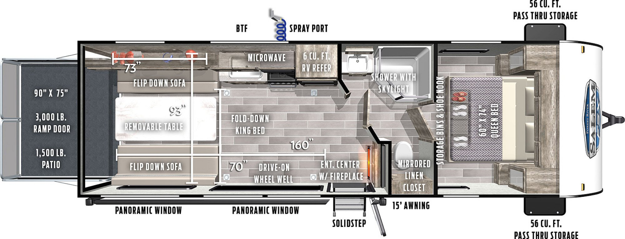 Floor Plan image for '2021 FOREST RIVER SALEM FSX 260RT'