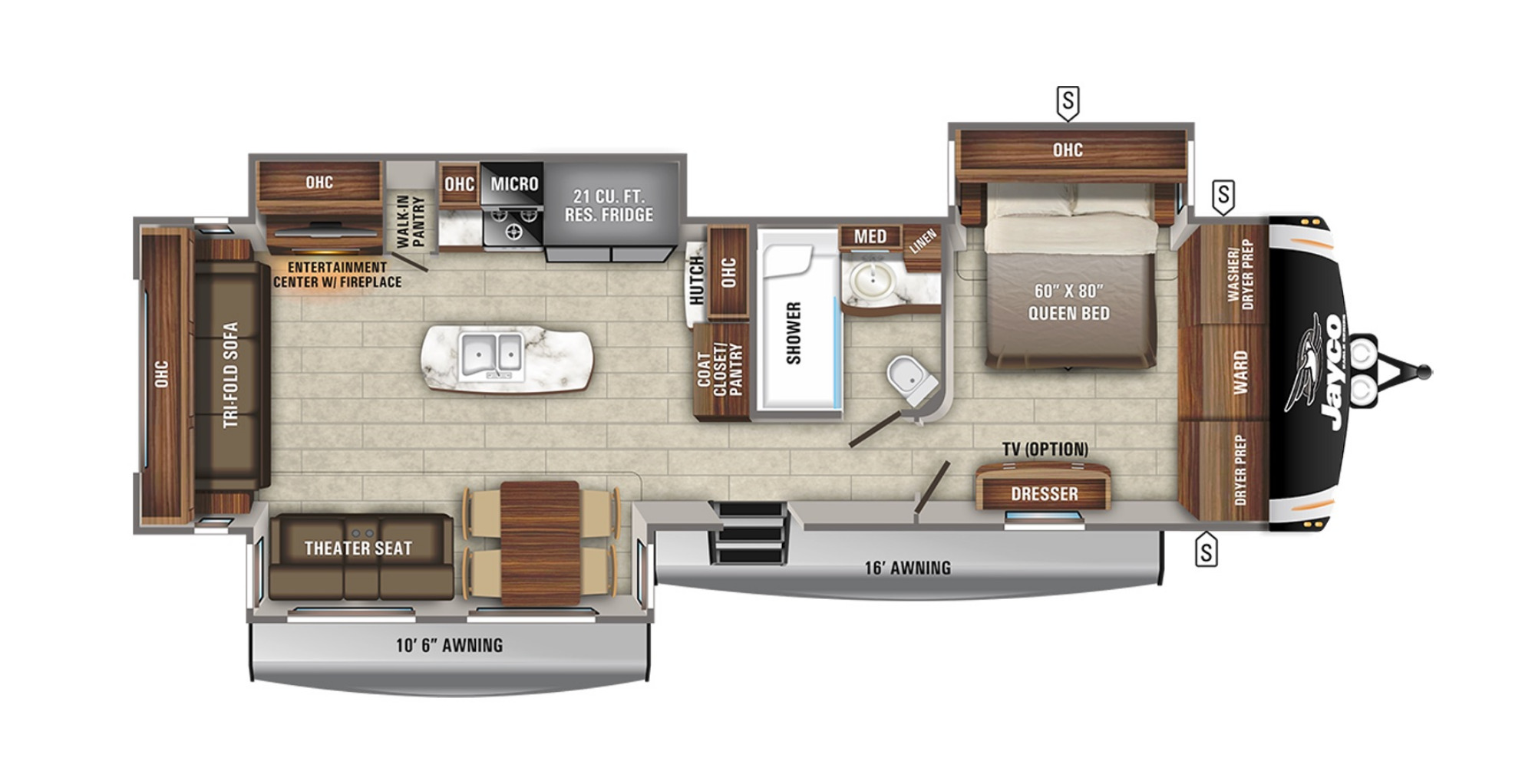 View Floor Plan for 2021 JAYCO EAGLE 330RSTS