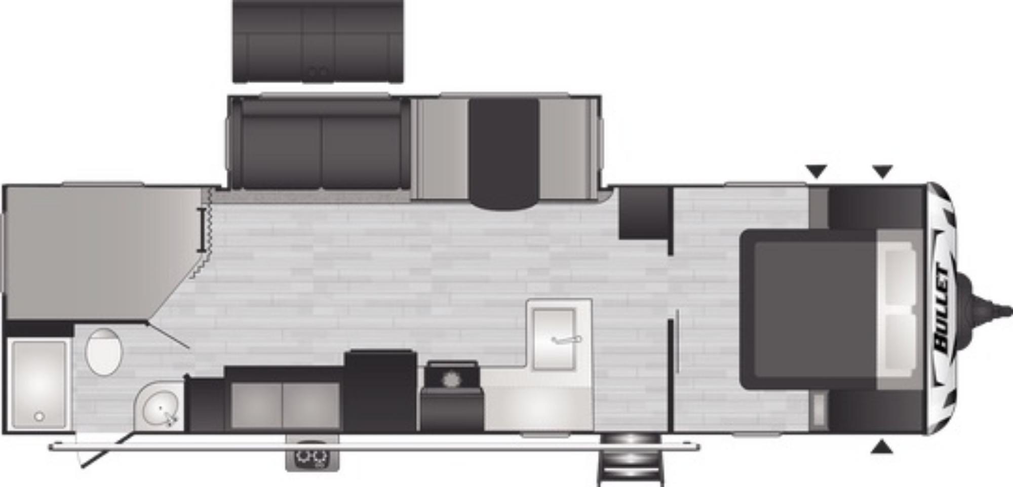 View Floor Plan for 2021 KEYSTONE BULLET 290BHSWE