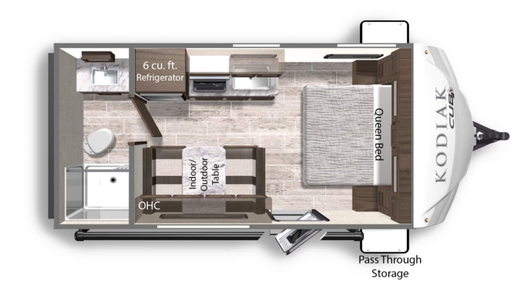 View Floor Plan for 2021 DUTCHMEN KODIAK CUB 177RB