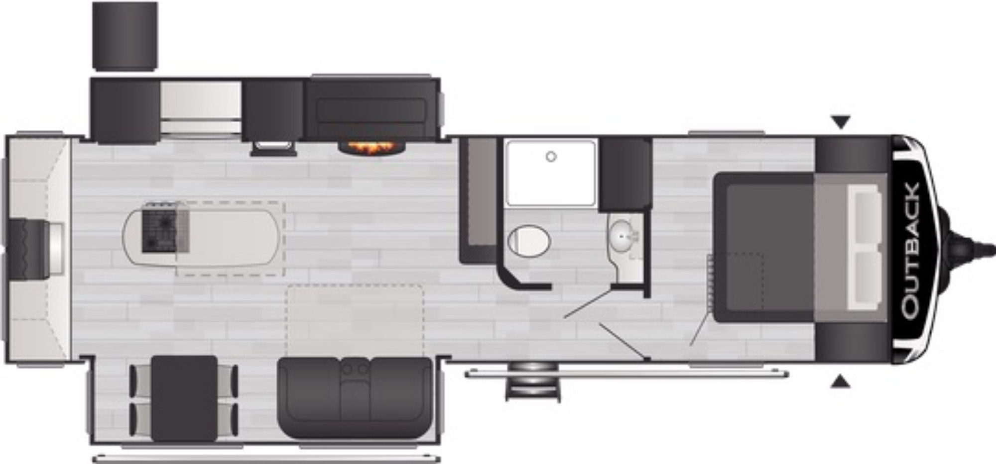 View Floor Plan for 2021 KEYSTONE OUTBACK 300ML
