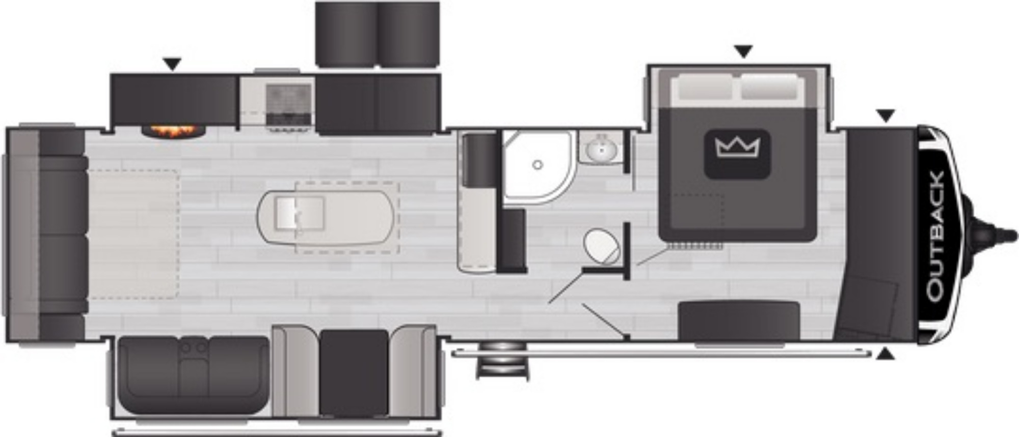 View Floor Plan for 2021 KEYSTONE OUTBACK 328RL