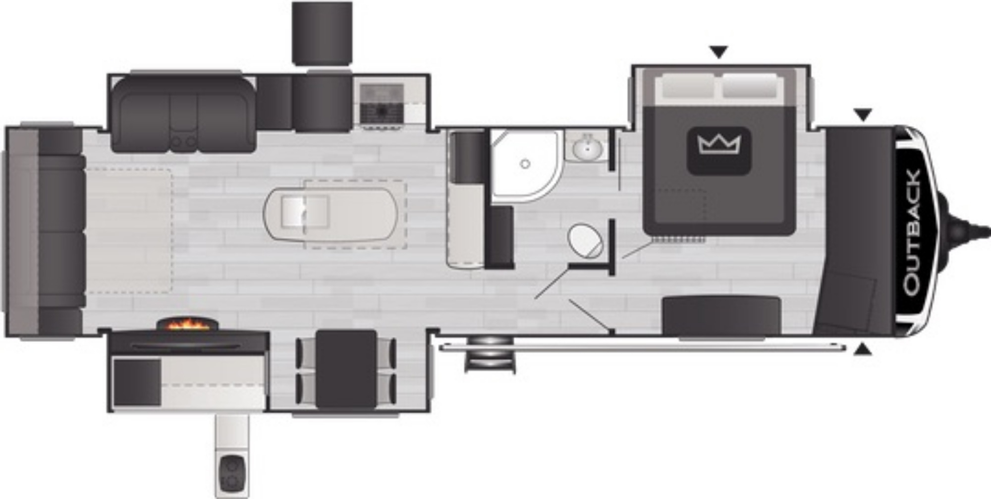 View Floor Plan for 2021 KEYSTONE OUTBACK 330RL