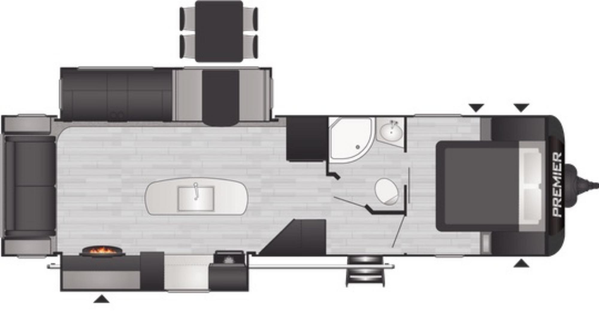 View Floor Plan for 2021 KEYSTONE PREMIER 30RI