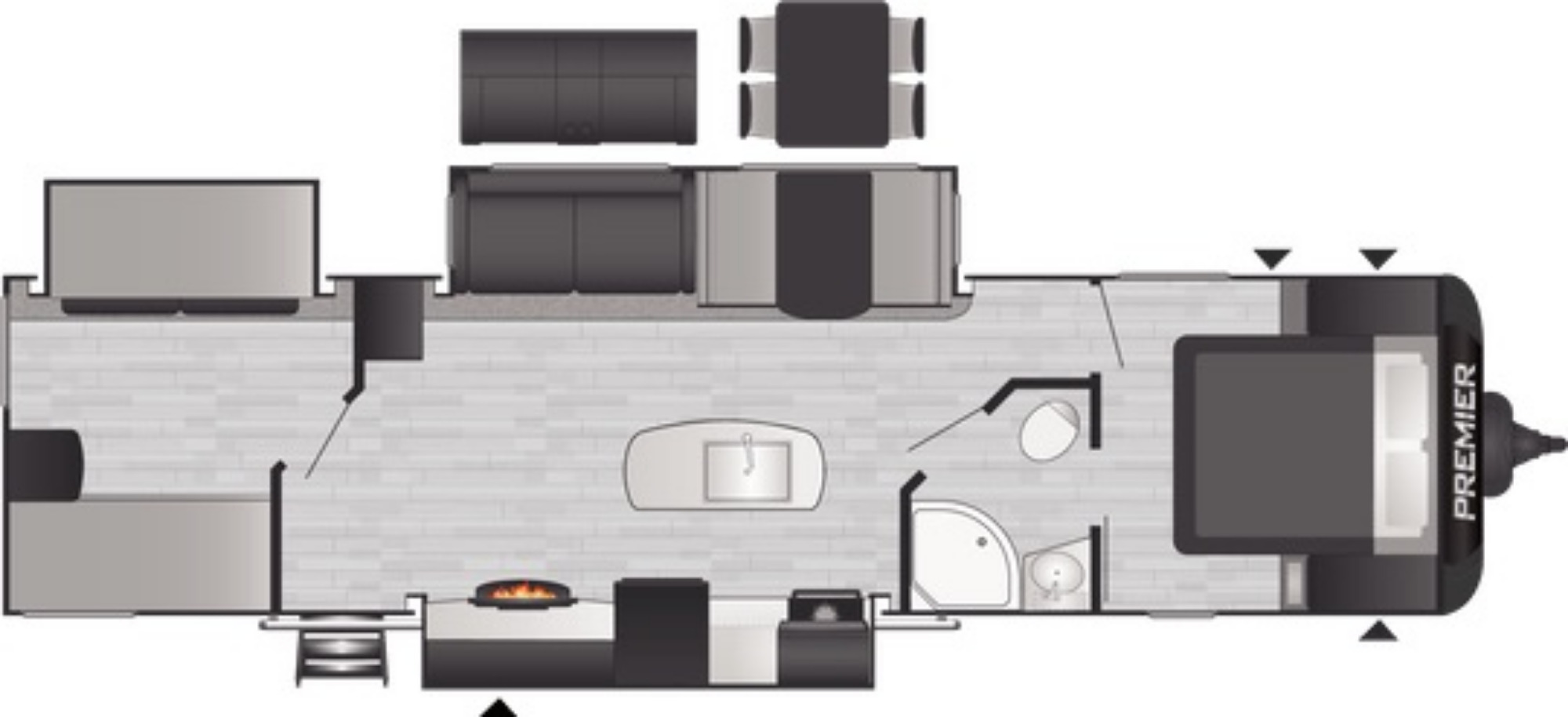 View Floor Plan for 2021 KEYSTONE PREMIER 34BI