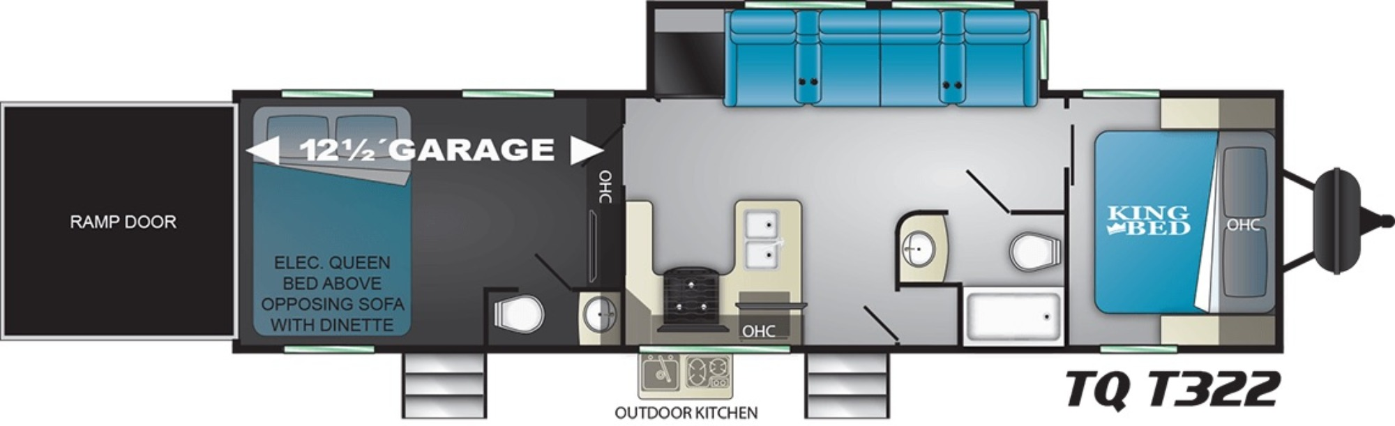 View Floor Plan for 2021 HEARTLAND TORQUE T322
