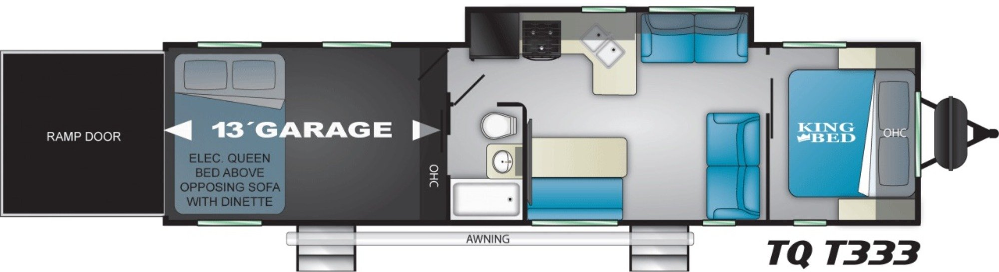 View Floor Plan for 2021 HEARTLAND TORQUE T333