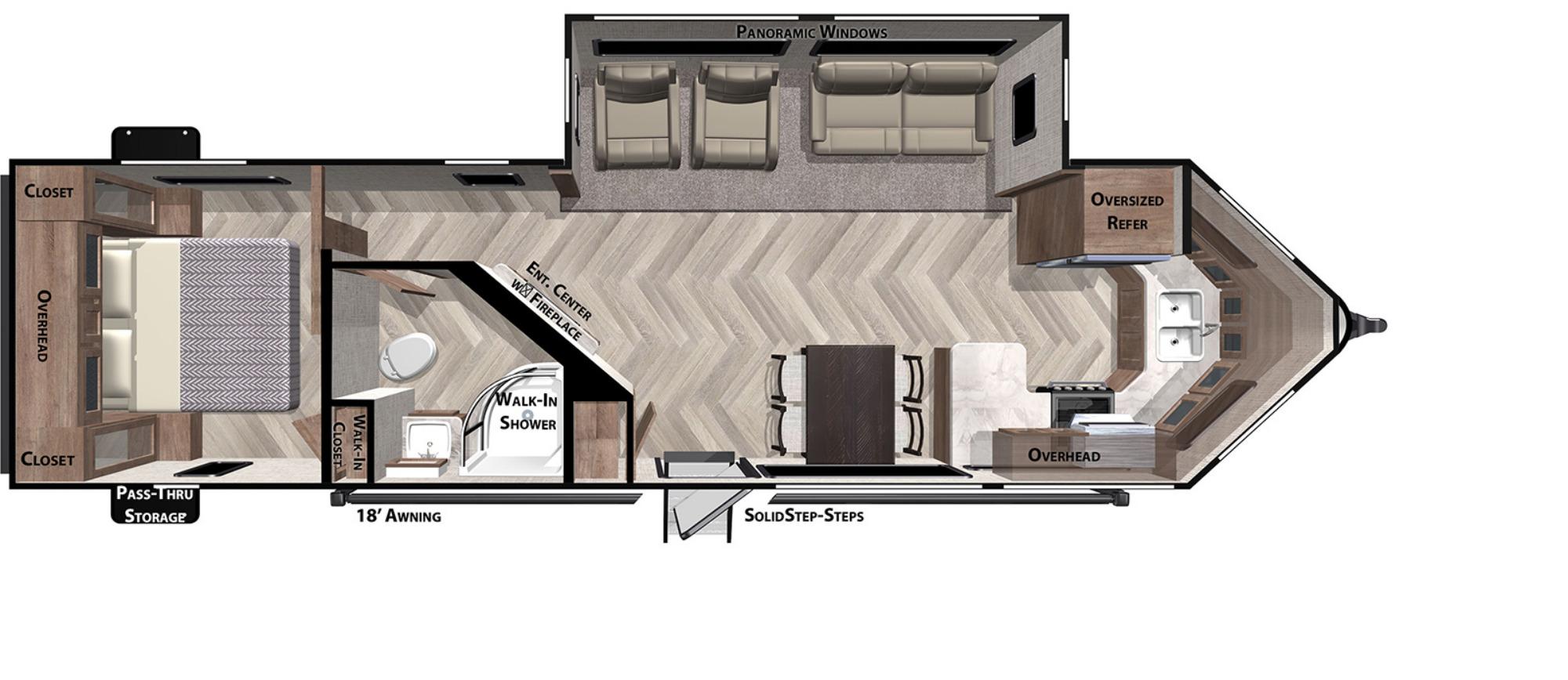 View Floor Plan for 2021 FOREST RIVER SALEM 28FKV