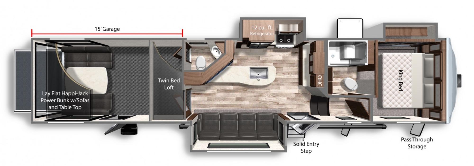 View Floor Plan for 2021 DUTCHMEN TRITON 3951