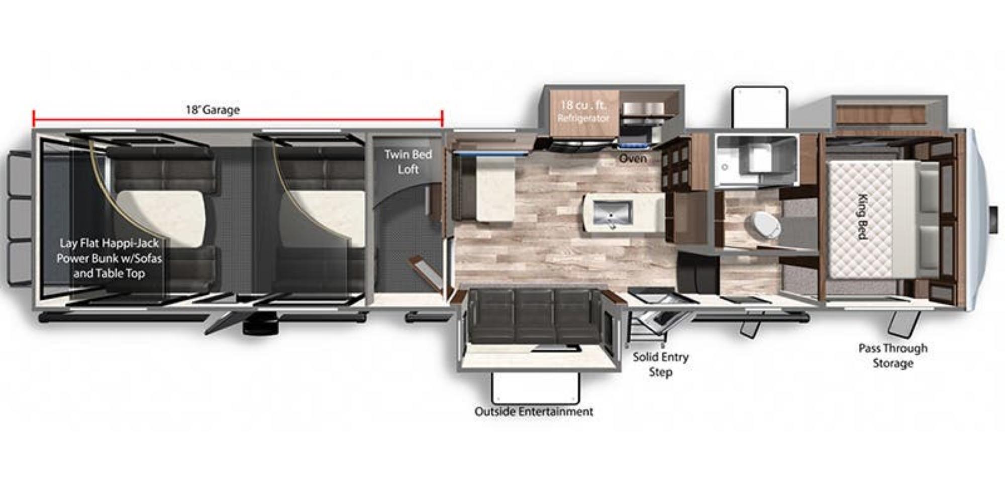 View Floor Plan for 2021 DUTCHMEN VOLTAGE 4135
