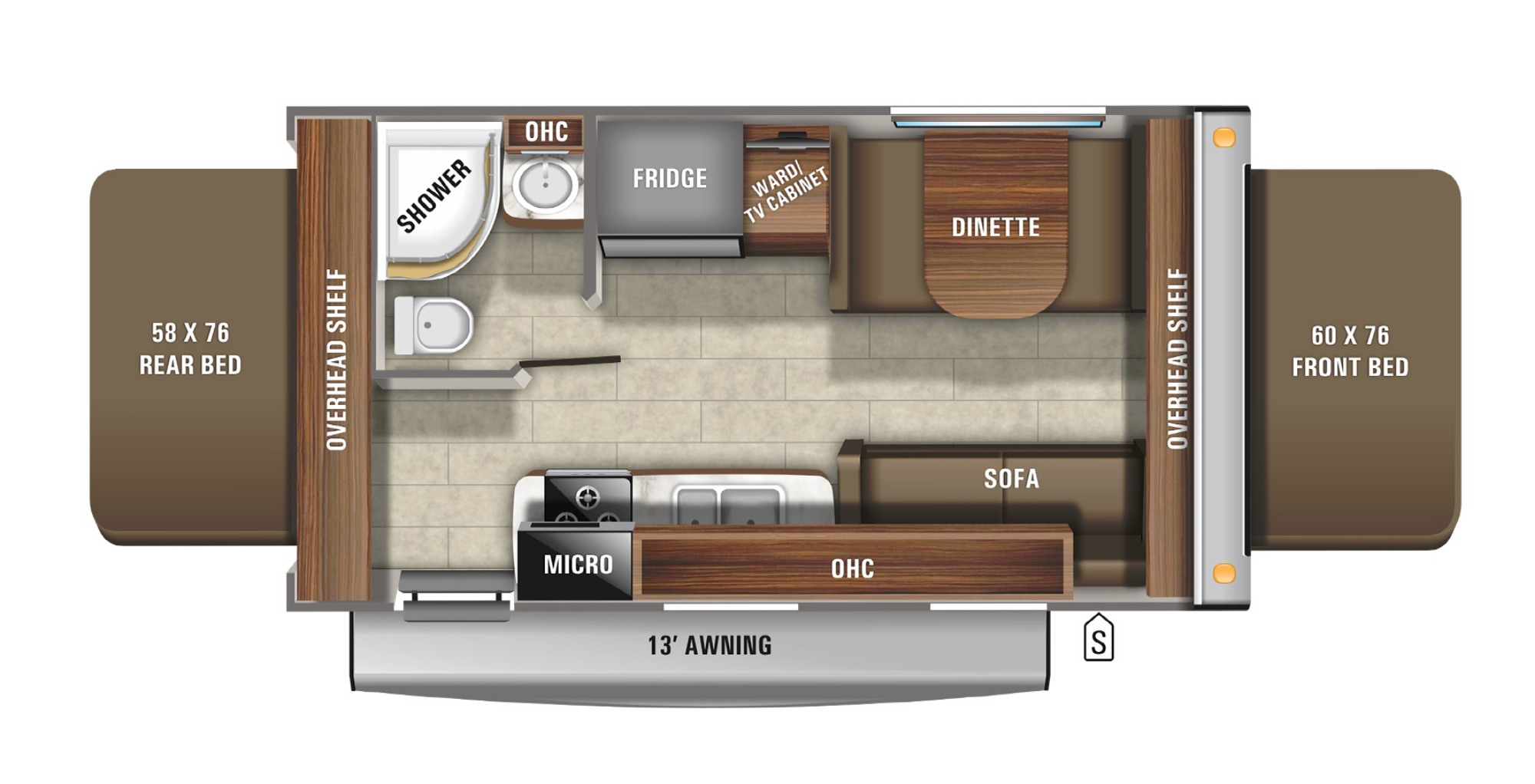 View Floor Plan for 2021 JAYCO JAY FEATHER X19H
