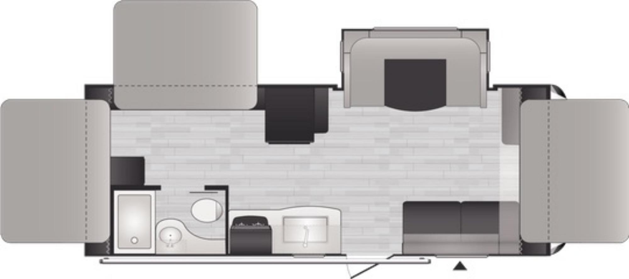 View Floor Plan for 2021 KEYSTONE BULLET CROSSFIRE 2190EX
