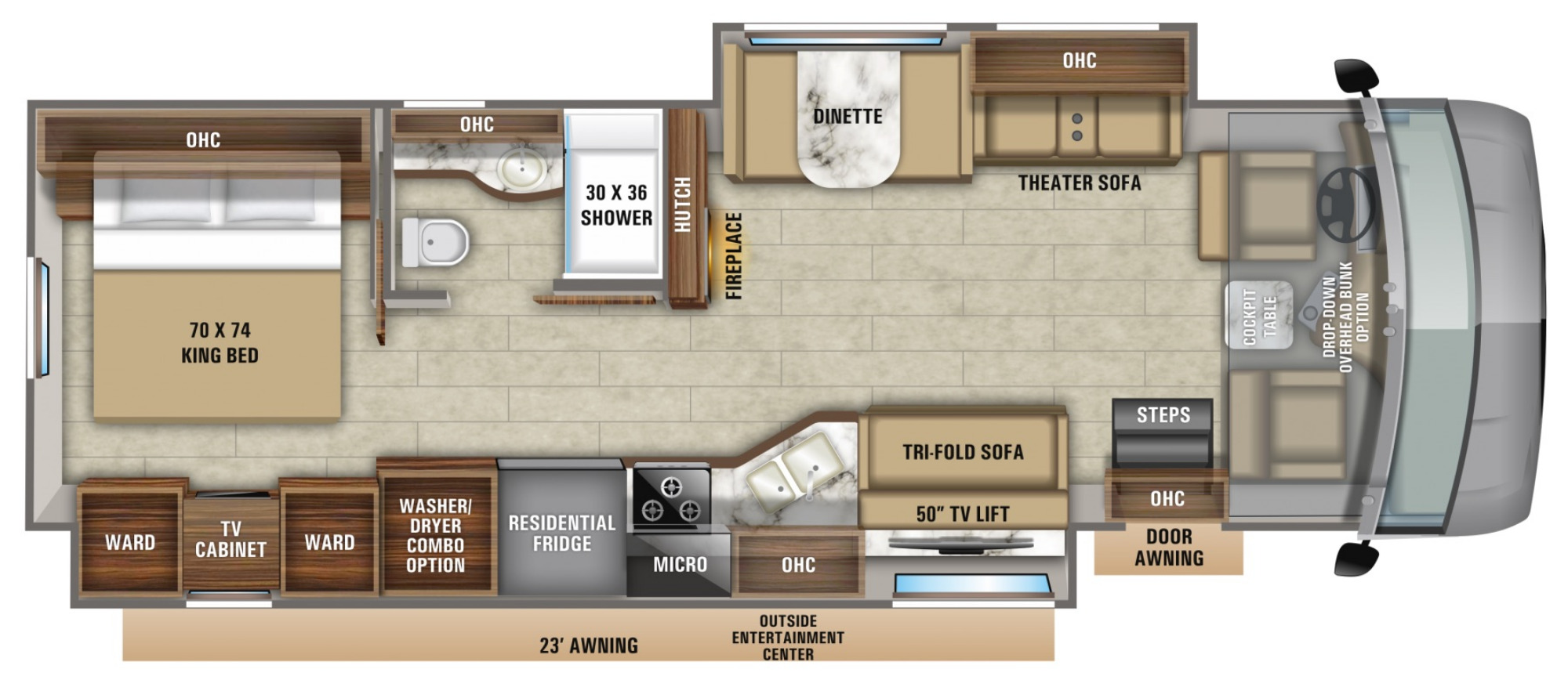 View Floor Plan for 2021 JAYCO PRECEPT 34G
