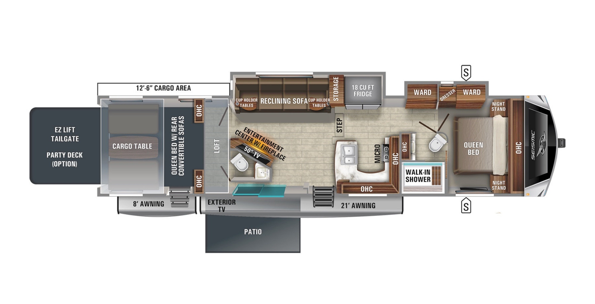 View Floor Plan for 2021 JAYCO SEISMIC 4113
