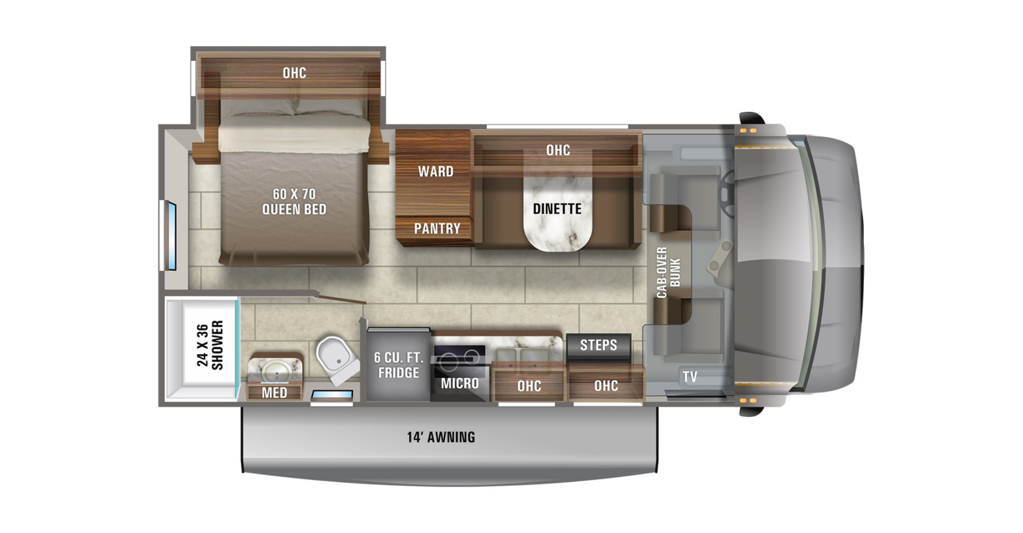 View Floor Plan for 2021 JAYCO REDHAWK SE 22C