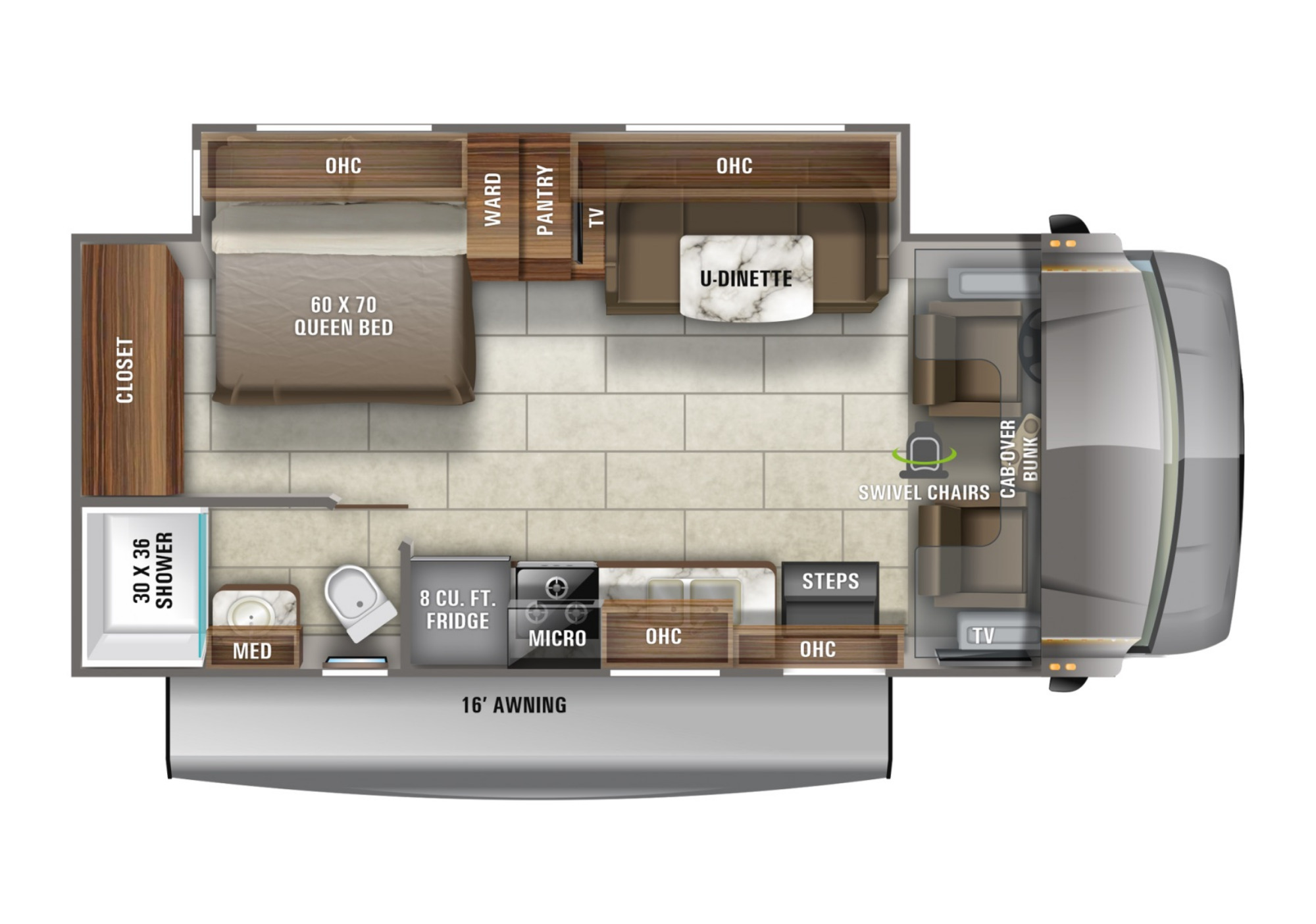 View Floor Plan for 2021 JAYCO REDHAWK 24B