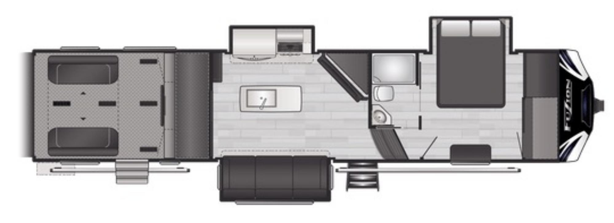 View Floor Plan for 2021 KEYSTONE FUZION 357