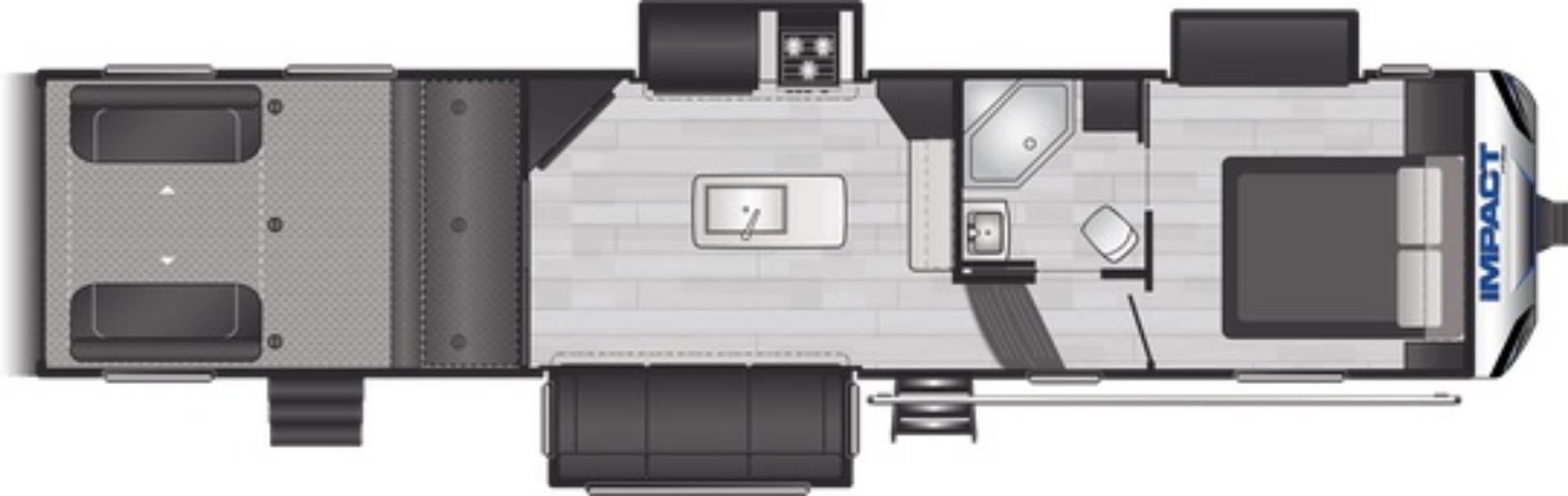 View Floor Plan for 2021 KEYSTONE IMPACT 343