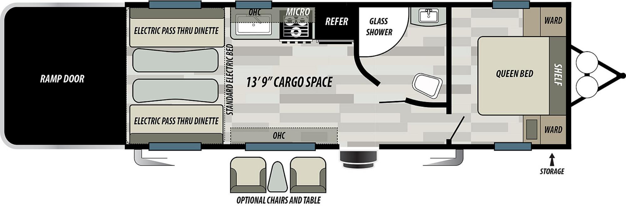 View Floor Plan for 2021 FOREST RIVER SANDSTORM 242GSLC