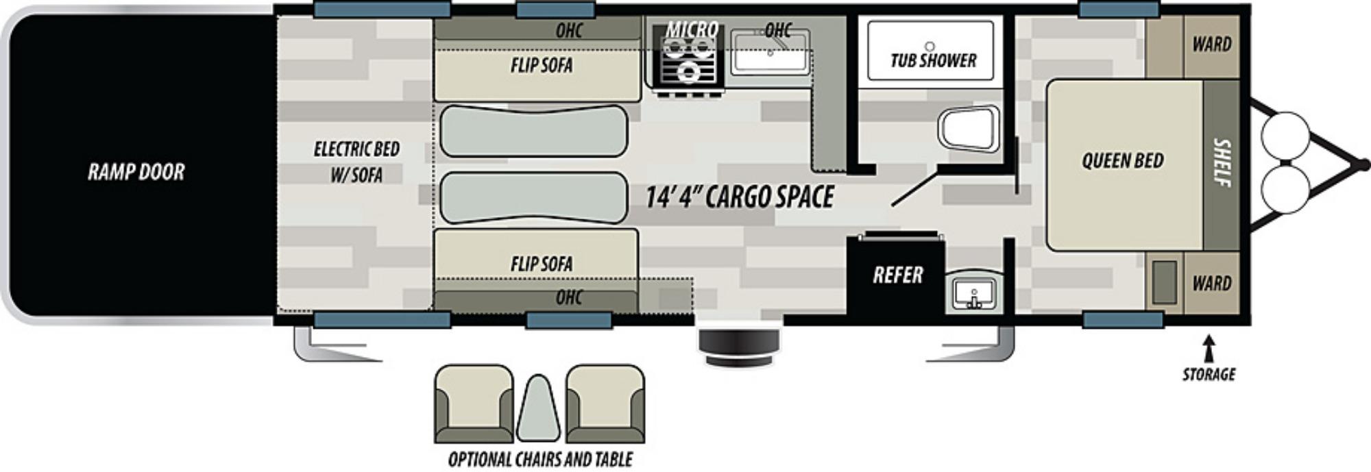 View Floor Plan for 2021 FOREST RIVER SANDSTORM 251SLC